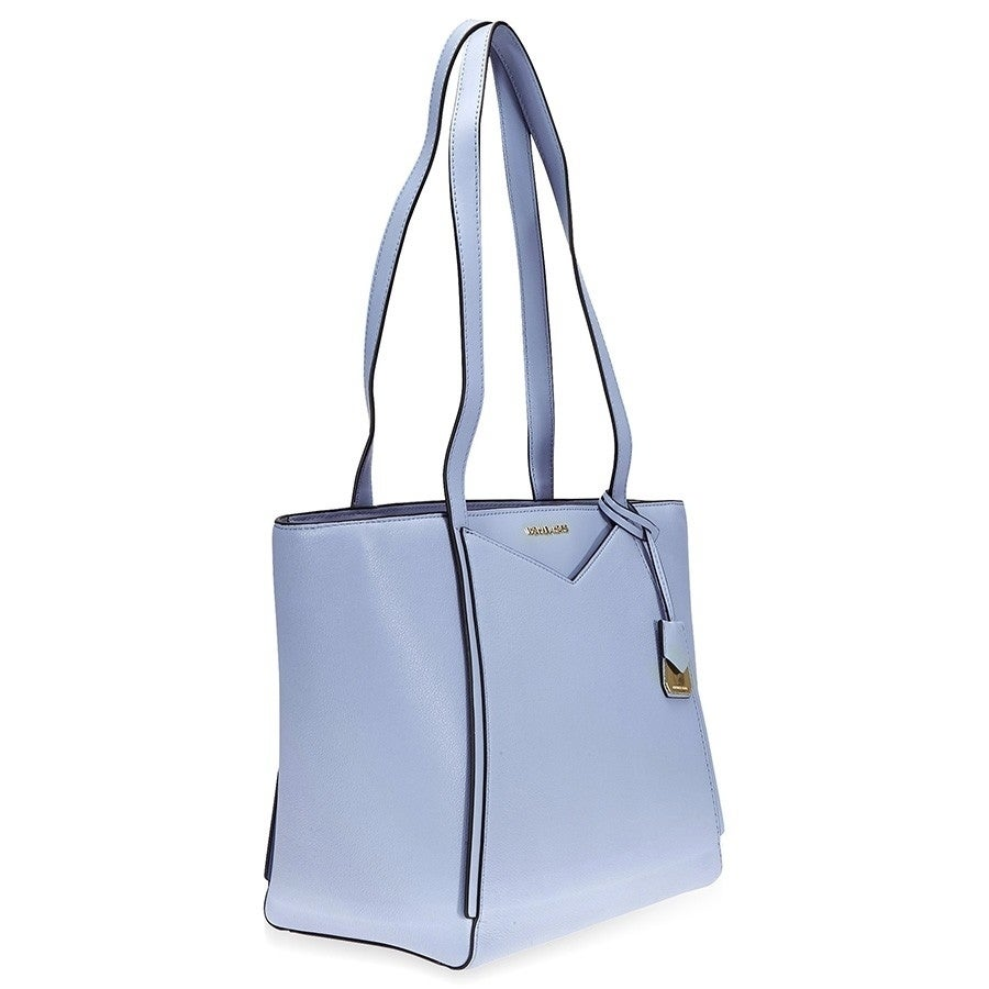 38b1815624e2 Shop MICHAEL Michael Kors Whitney Small Pebbled Leather Tote Pale Blue -  Free Shipping Today - Overstock - 22612717