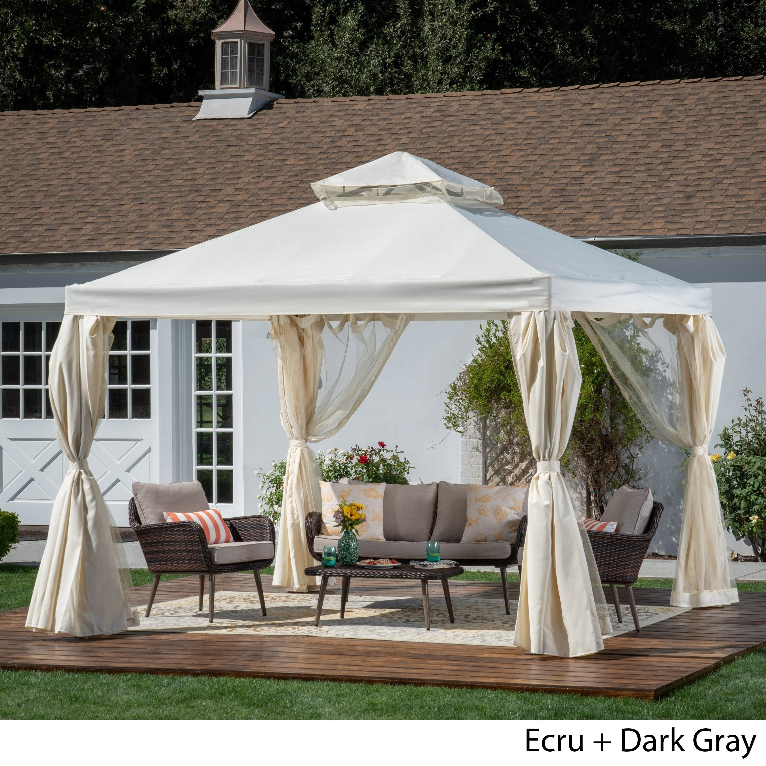 Arizona Outdoor 10 By Water Resistant Fabric And Steel Gazebo Christopher Knight Home On Free Shipping Today 22632274