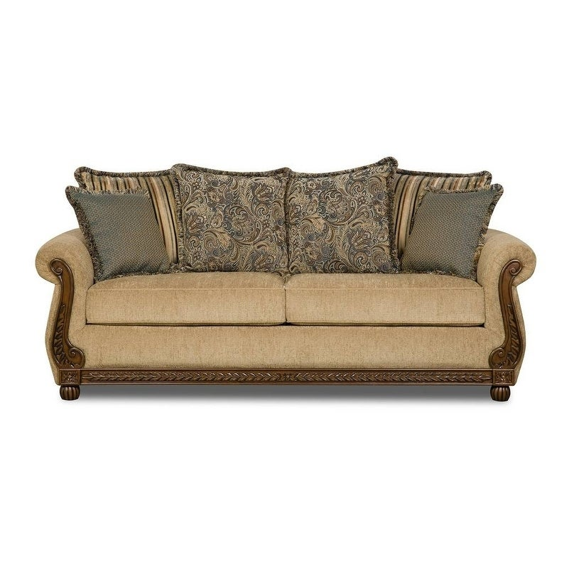 shop simmons upholstery outback antique sofa on sale free rh overstock com antique style sofa bed antique kroehler sofa bed