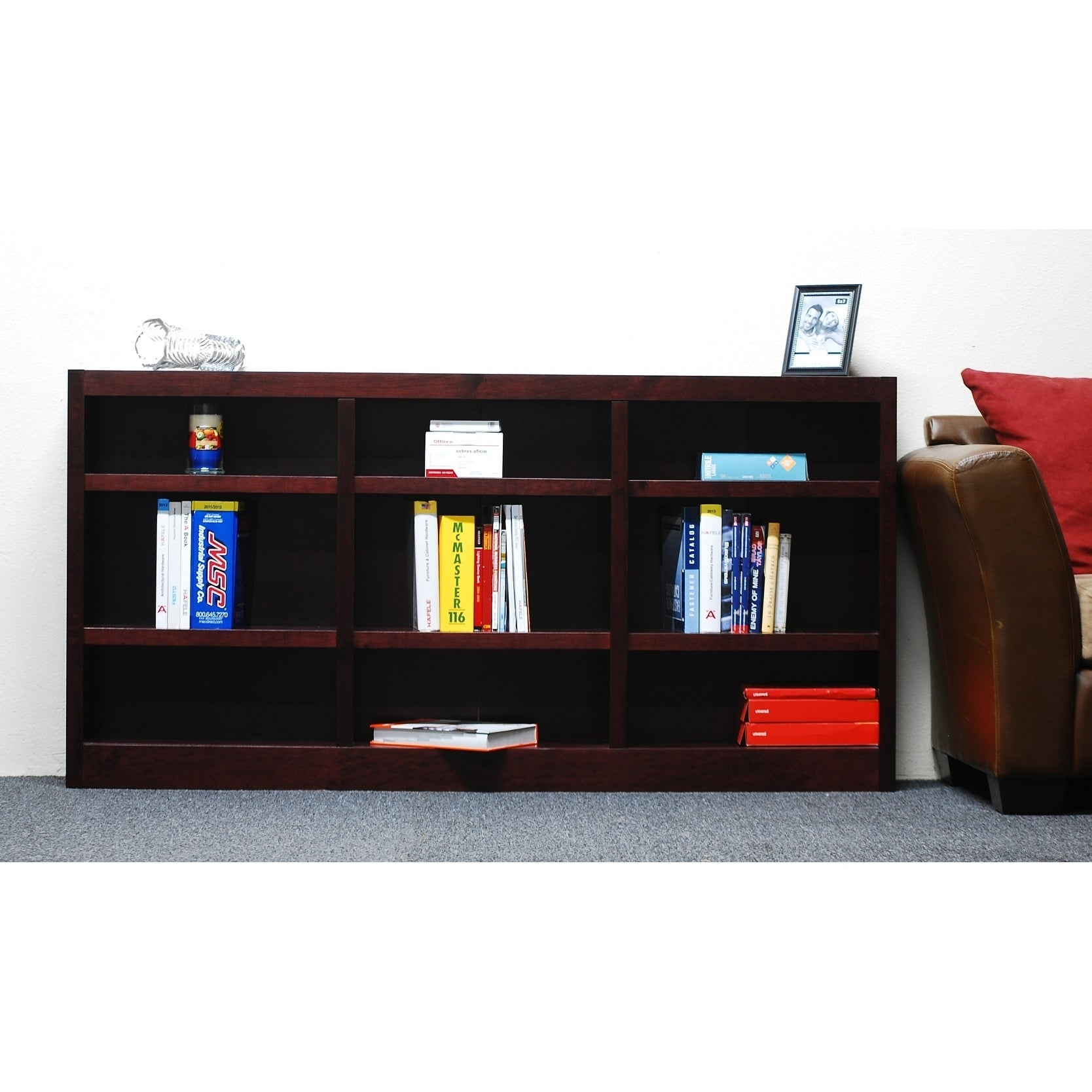 Shop Concepts In Wood MI7236 72 X 36 Wall Storage Unit, Cherry Finish    Free Shipping Today   Overstock.com   22639054