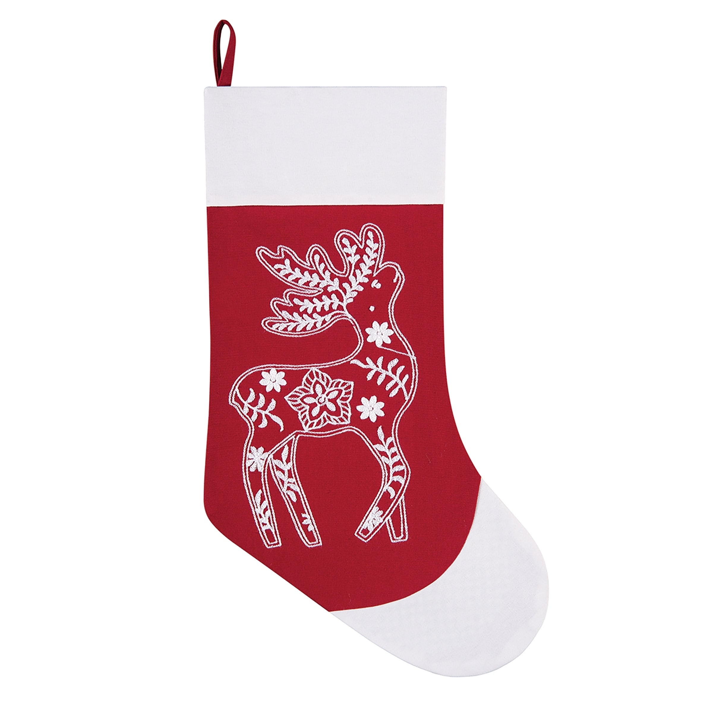 shop lapland embroidered christmas stocking free shipping on orders over 45 overstockcom 22639130 - Moose Christmas Stocking