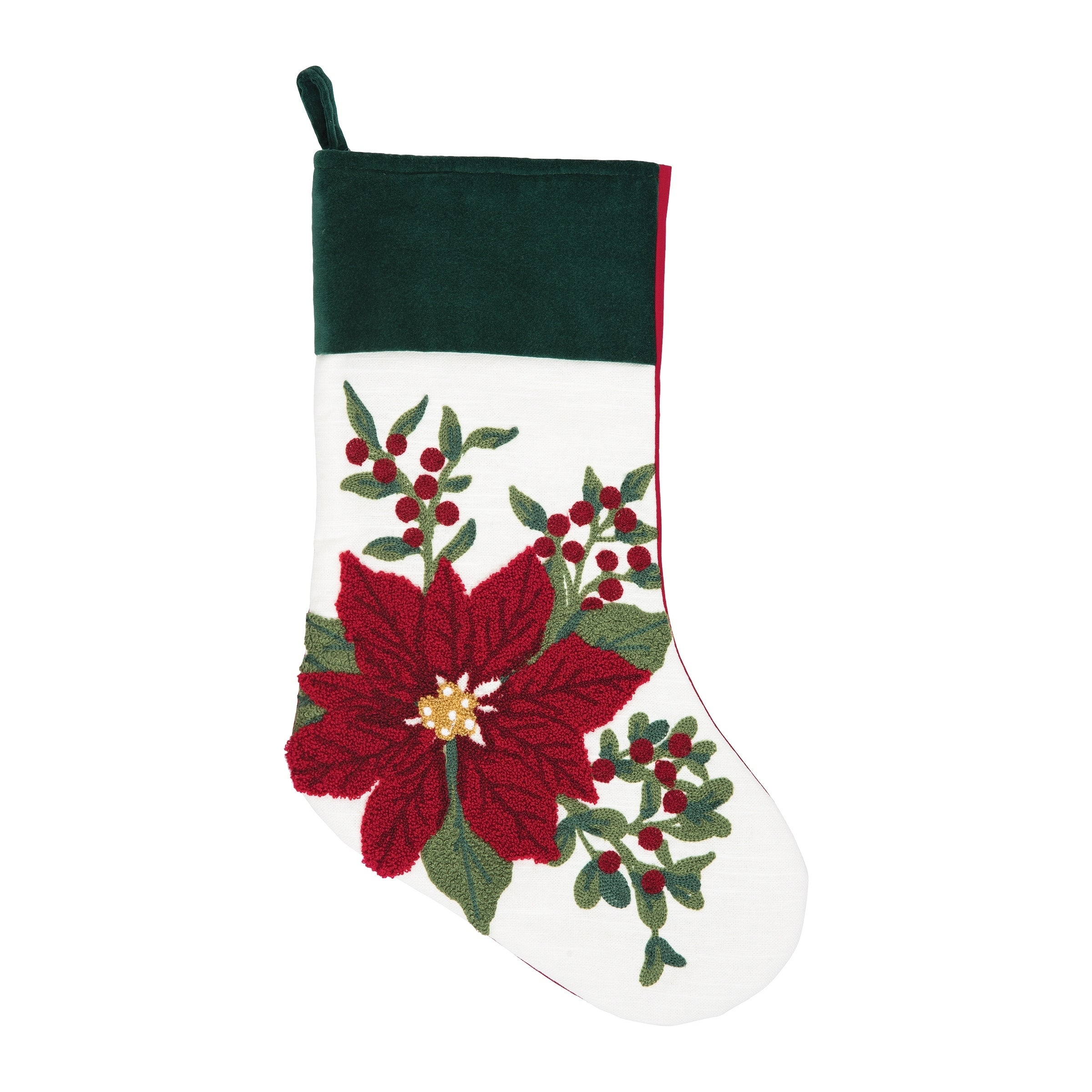 Shop Christmas Traditions Chain Stitched Stocking - Free Shipping On ...