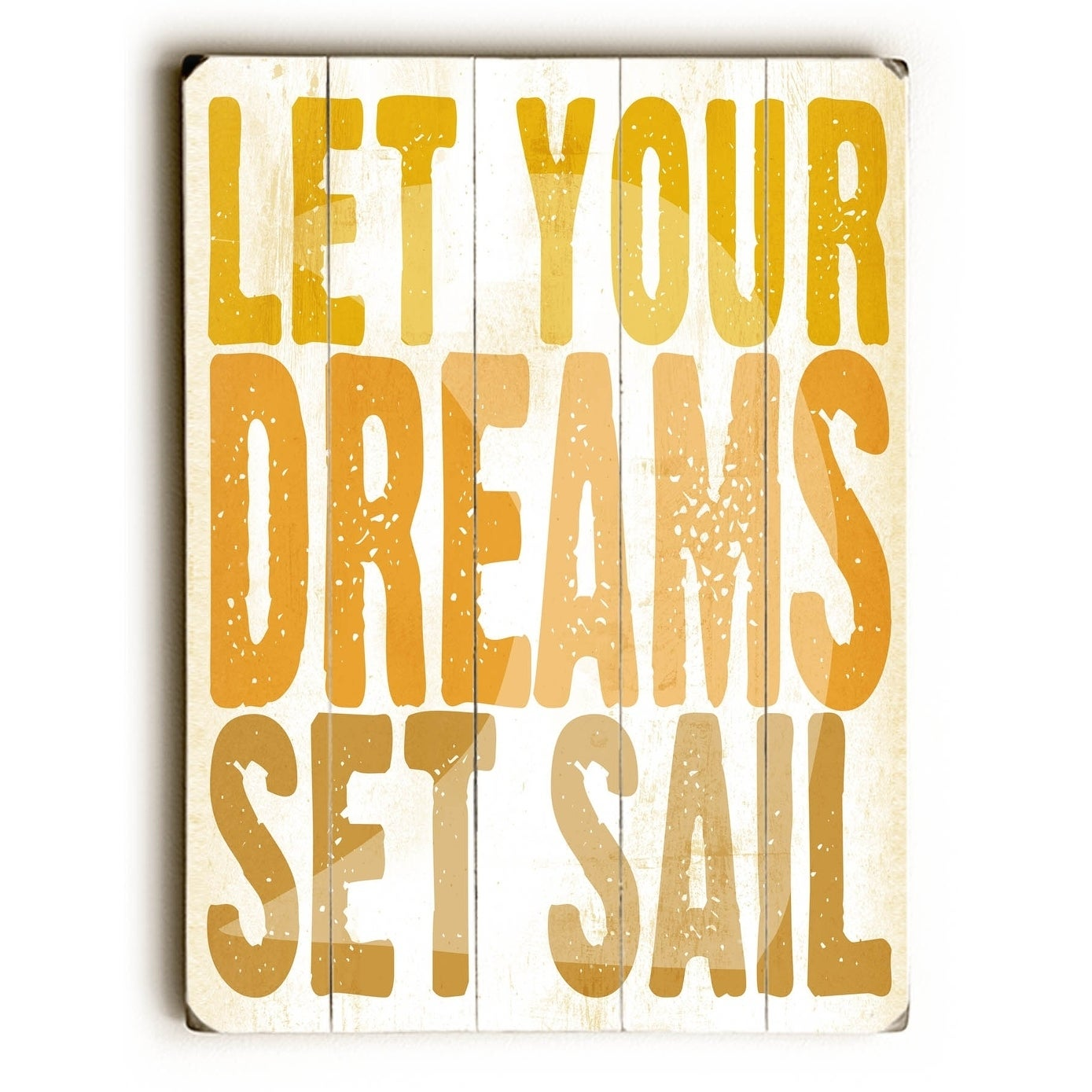Shop Let your dreams - Planked Wood Wall Decor by Peter Horjus ...