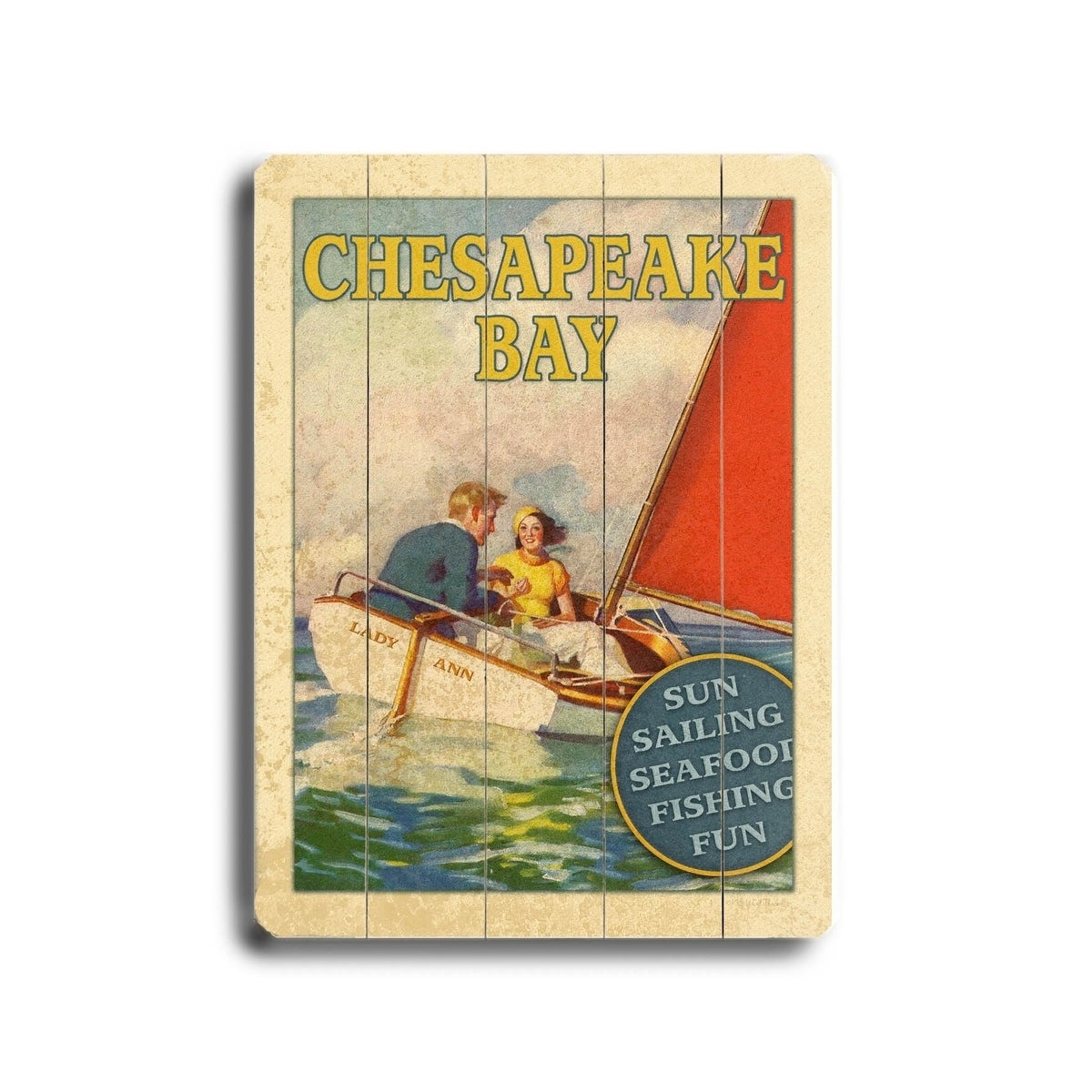 Shop Chesapeake Bay - Planked Wood Wall Decor by Next Day Art - Free ...