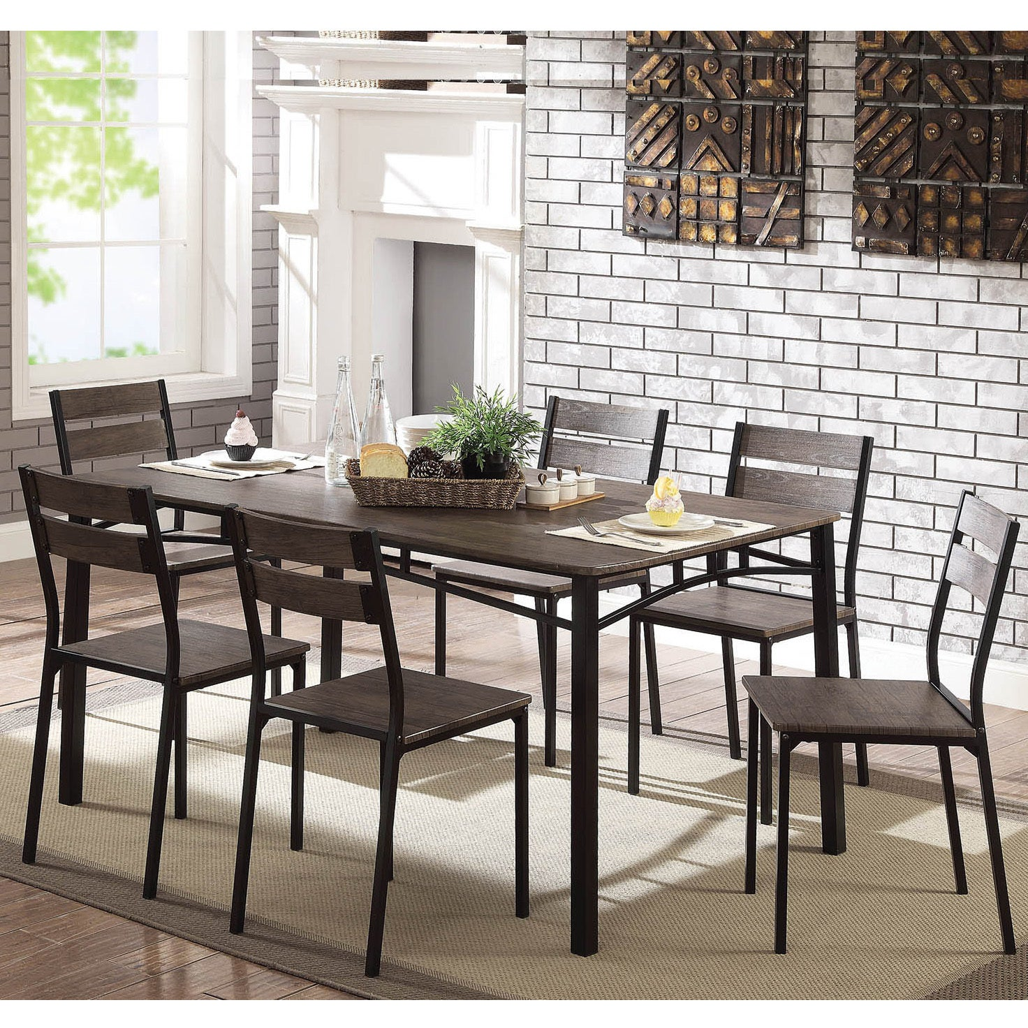 Furniture Of America Patton 7 Piece Rustic Modern Farmhouse Dining Table Set On Free Shipping Today 22671341