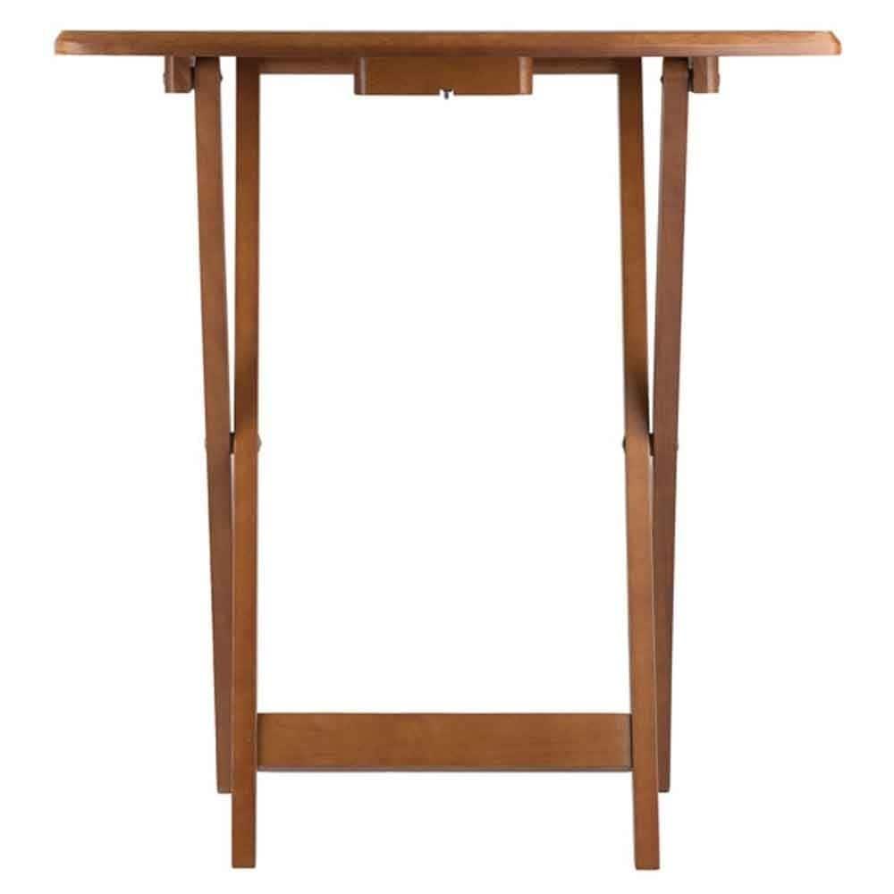 Shop Winsome Dylan Solid Teakwood Oversize Snack Table Set - 5 Piece ...