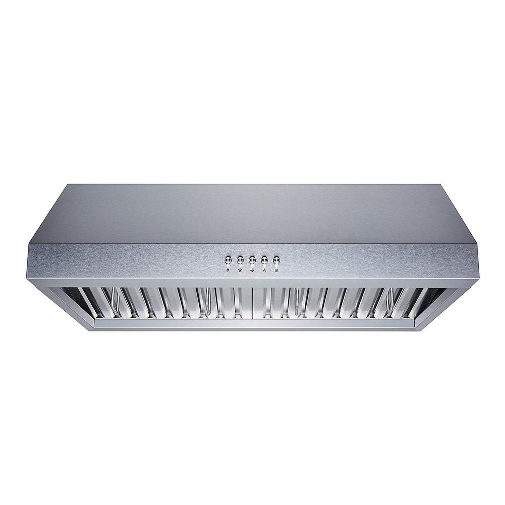6a17bfc90e7 Shop Winflo 30 in. Ductecd Stainless Steel Under Cabinet Range Hood ...