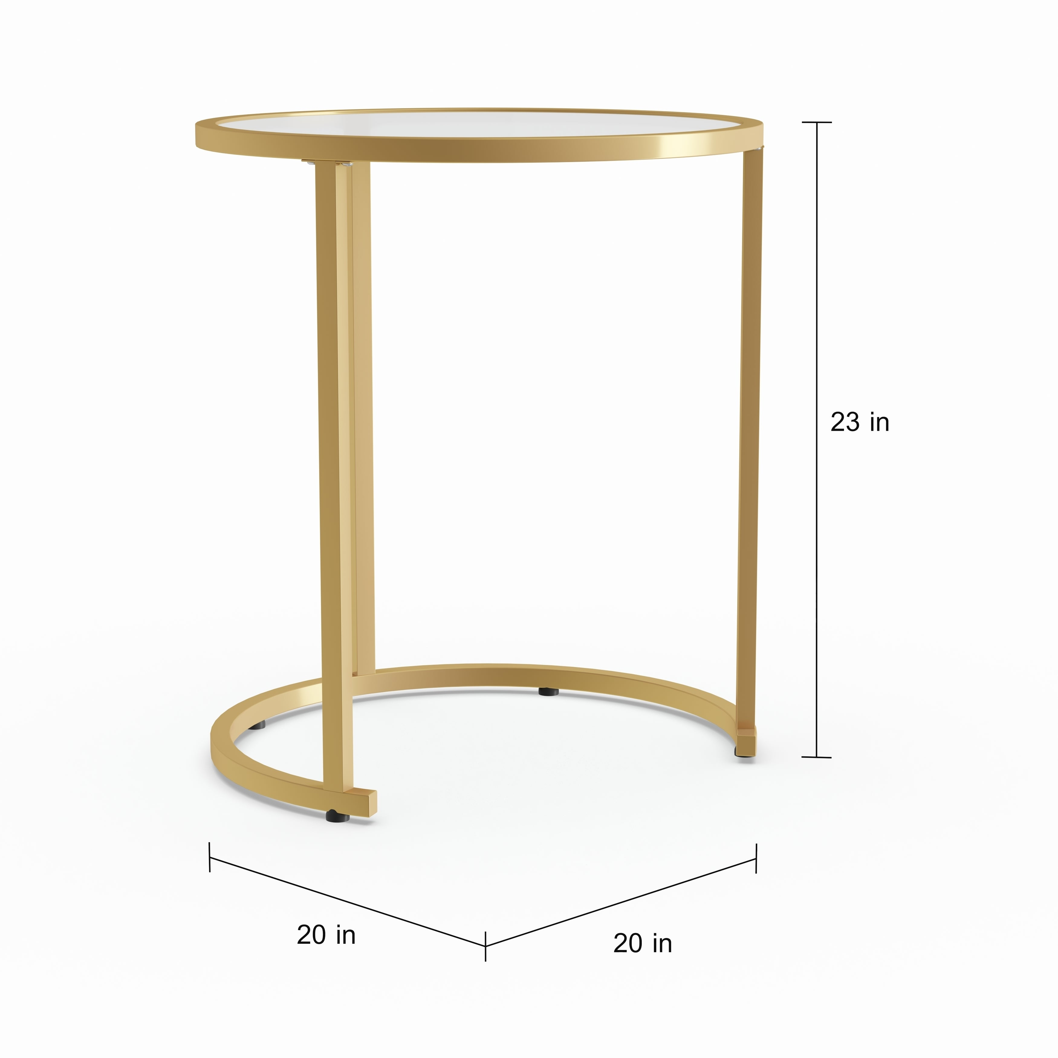 cb943edf38abc Shop Silver Orchid Grant Glam Nesting Side Table 2pc Set - Gold - Free  Shipping Today - Overstock - 22695135
