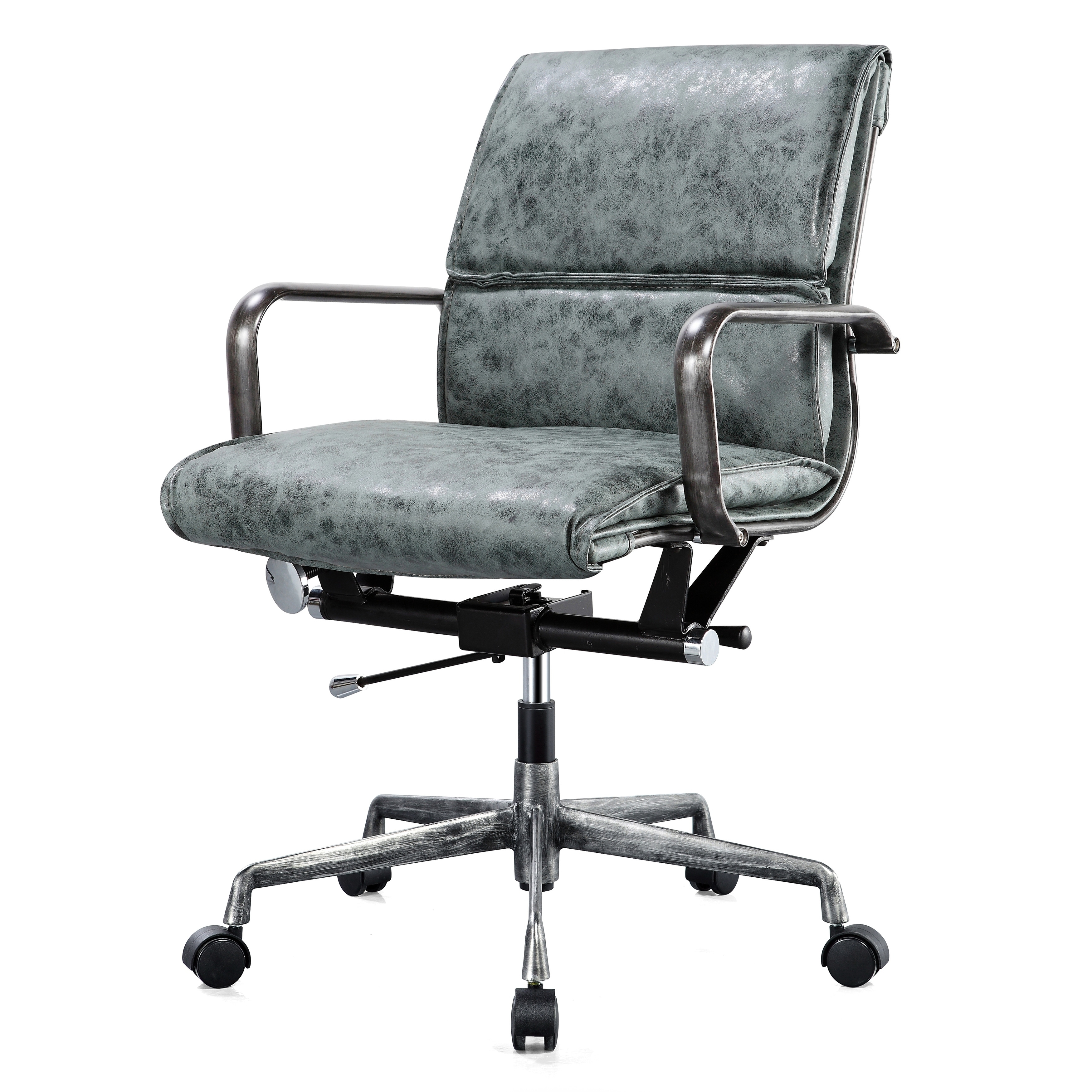 shop m330 padded vegan leather office chair, distressed - on sale