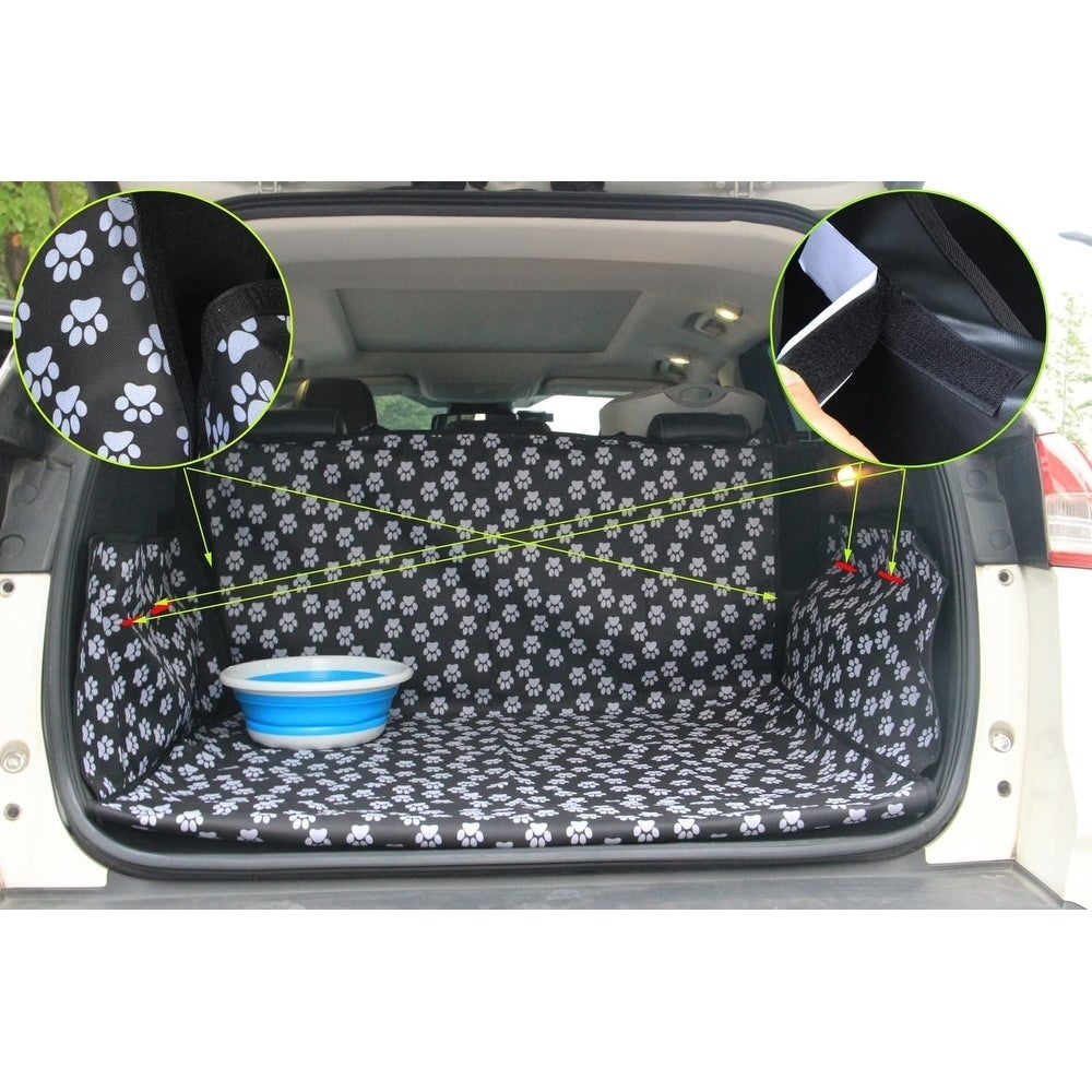 Shop Pet Dog Trunk Cargo Liner Car Suv Van Seat Cover Waterproof