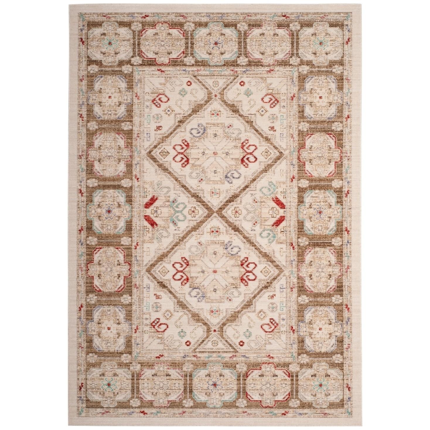 Shop Safavieh Windsor Bohemian Oriental Ivory Brown Cotton Rug 4