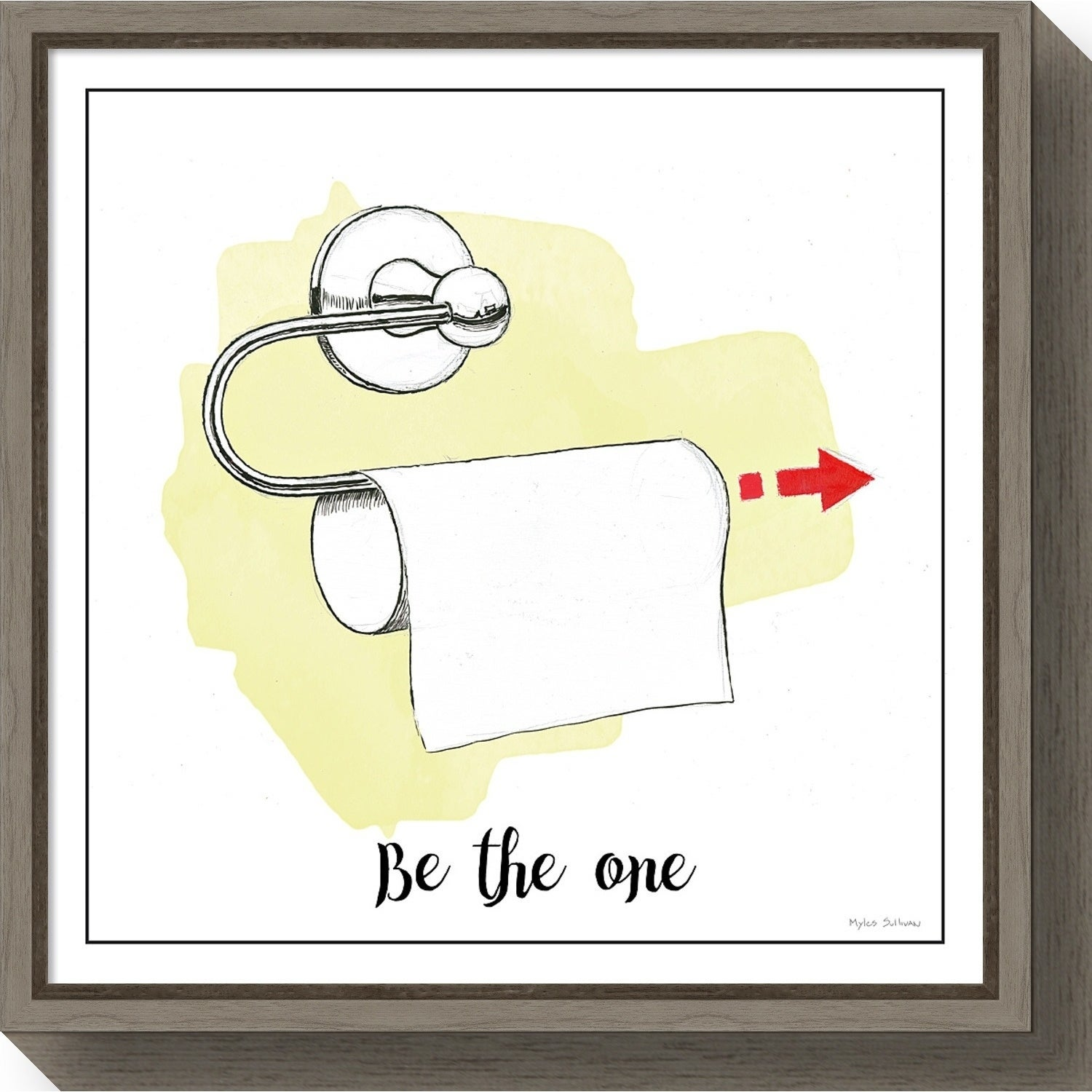 Shop Canvas Art Framed \'Home Improvement IV Toilet Paper\' by Myles ...
