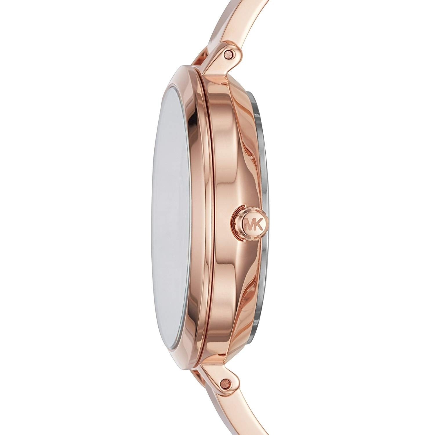 36615a92dcc3 Shop Michael Kors Women s Jaryn Rose Gold Stainless Steel Bangle Bracelet  Watch - Free Shipping Today - Overstock - 22718377