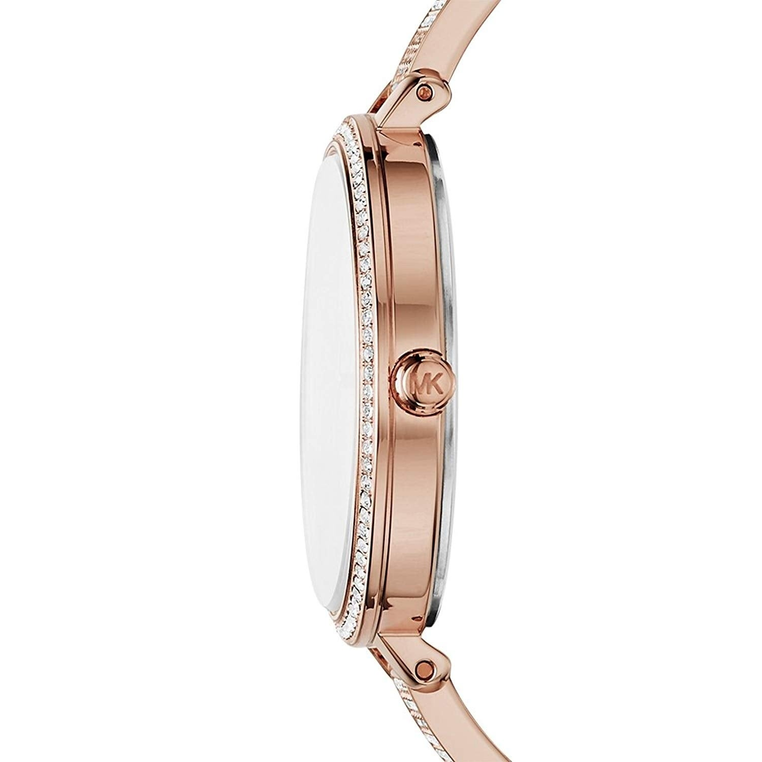 a0e85ebca8f5 Shop Michael Kors Women s Jaryn Crystal Pave Rose Gold Stainless Steel  Bangle Bracelet Watch - Free Shipping Today - Overstock - 22718395