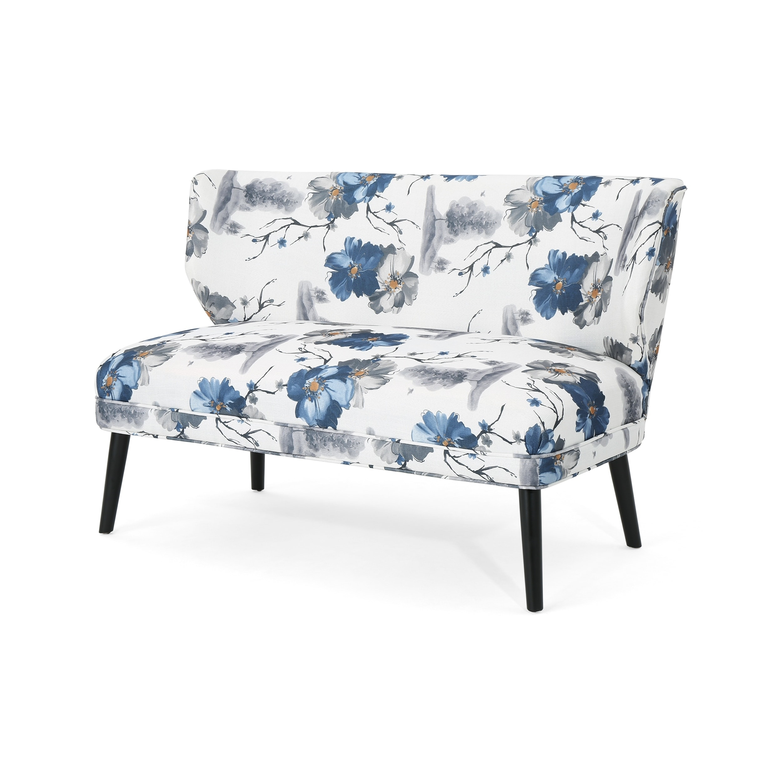 Shop Desdemona Modern Farmhouse Fabric Settee By Christopher Knight