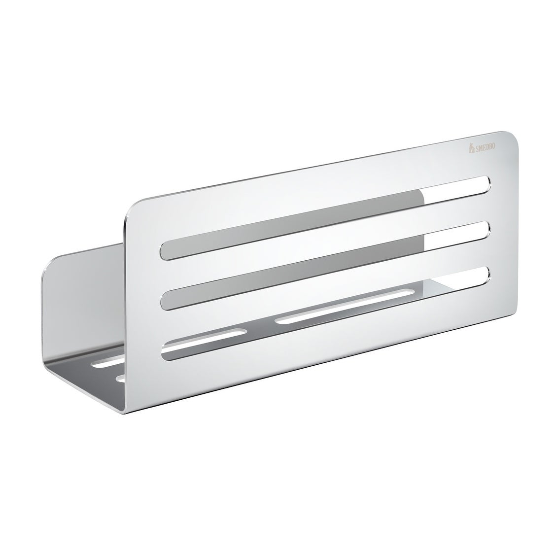 Shop Smedbo Self Adhesive Polished Chrome Shower Shelf - Free ...