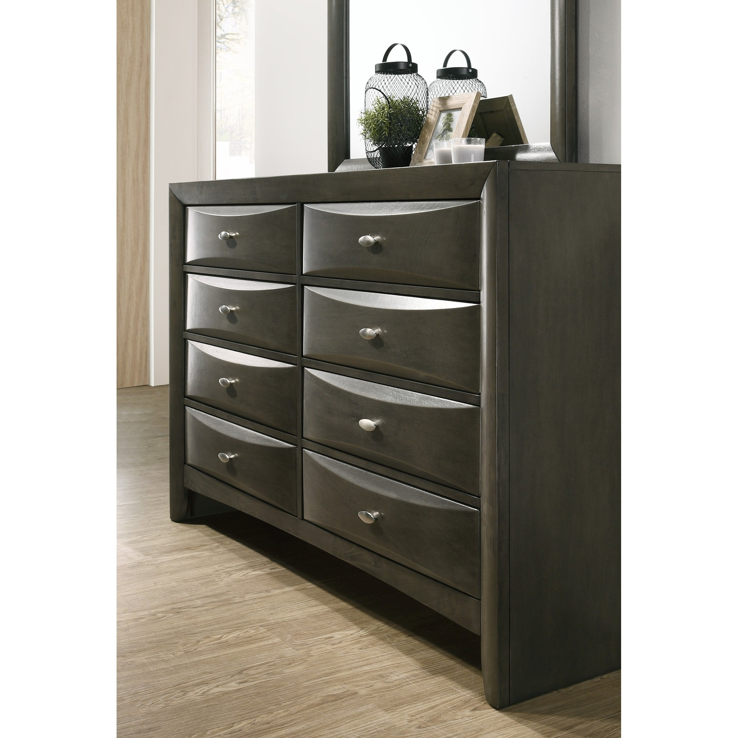 Shop Leslie Gray Solid Wood Dresser And Mirror Free Shipping Today
