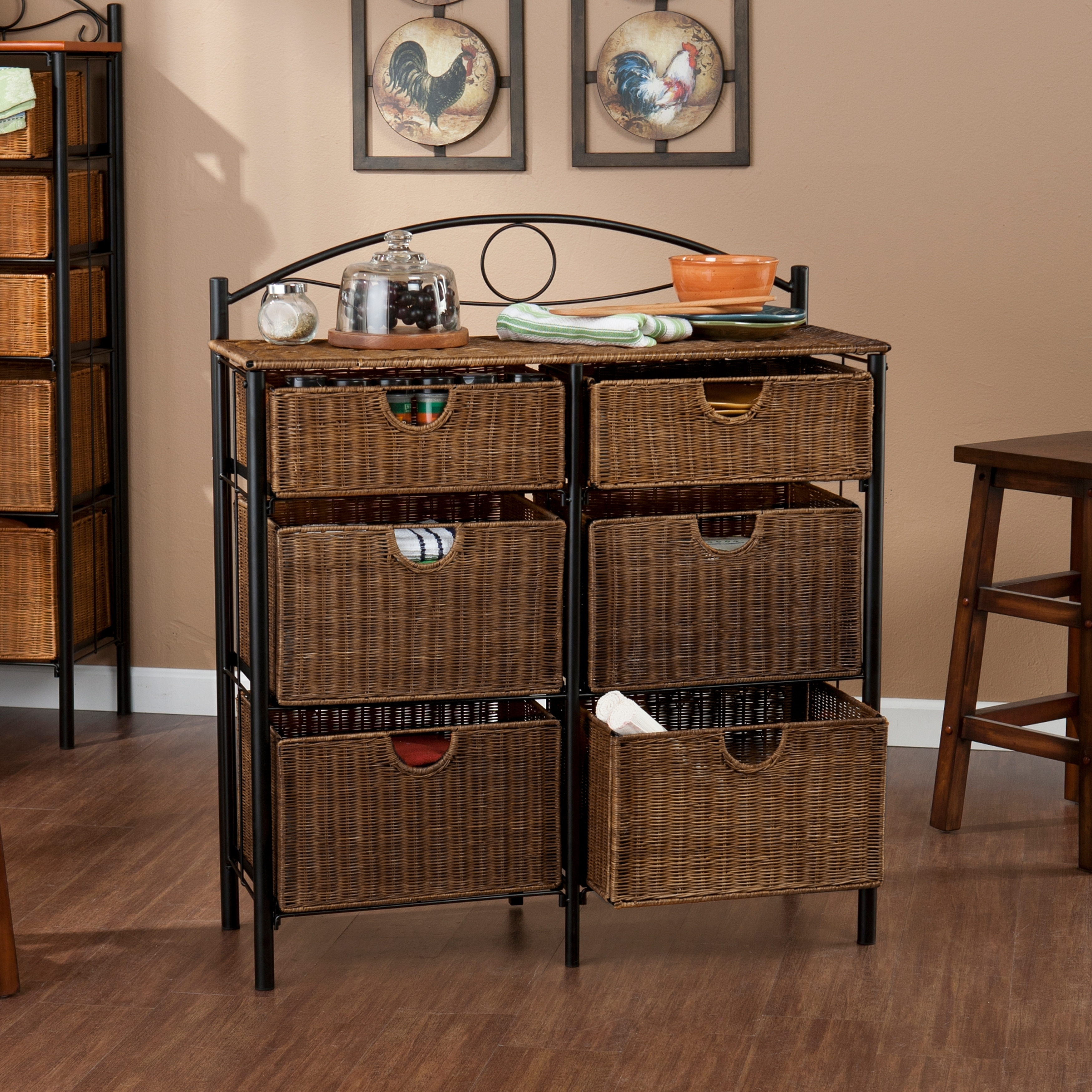 Shop The Curated Nomad Belize Black Wicker 6 Drawer Storage Chest   Free  Shipping Today   Overstock.com   22727171