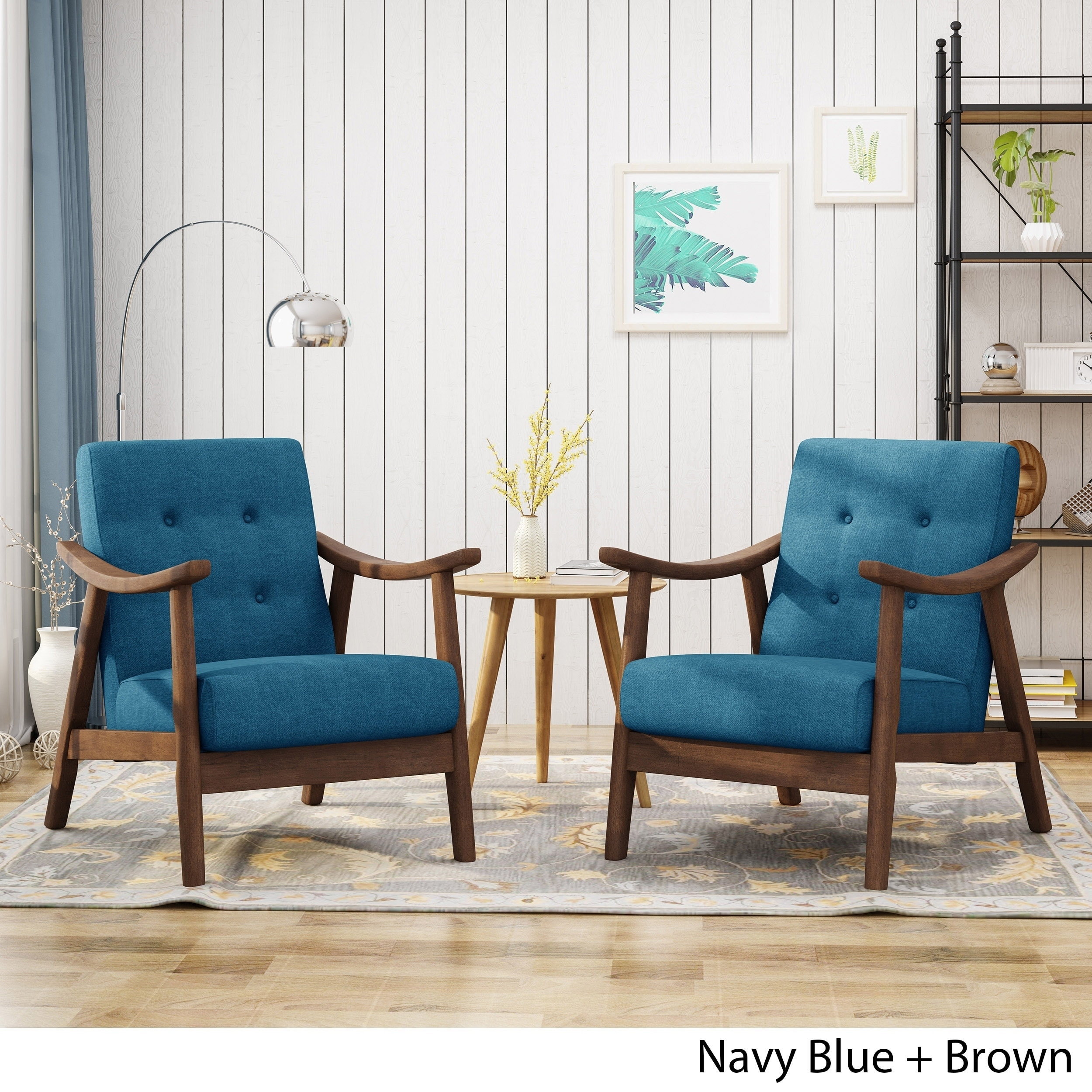 Shop Chabani Mid Century Modern Accent Chairs Set Of 2 By