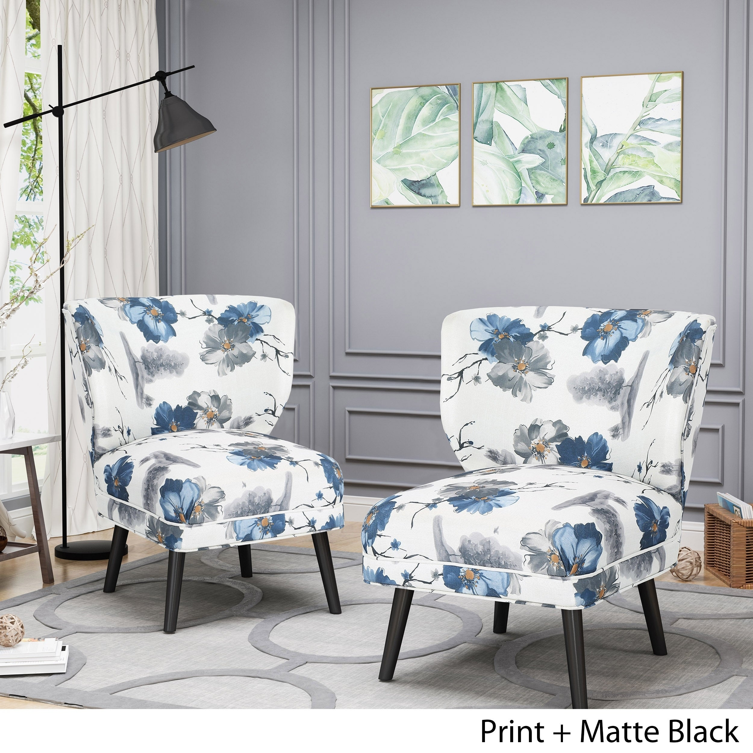 Shop desdemona modern farmhouse accent chairs set of 2 by chirstopher knight home free shipping today overstock com 22727912