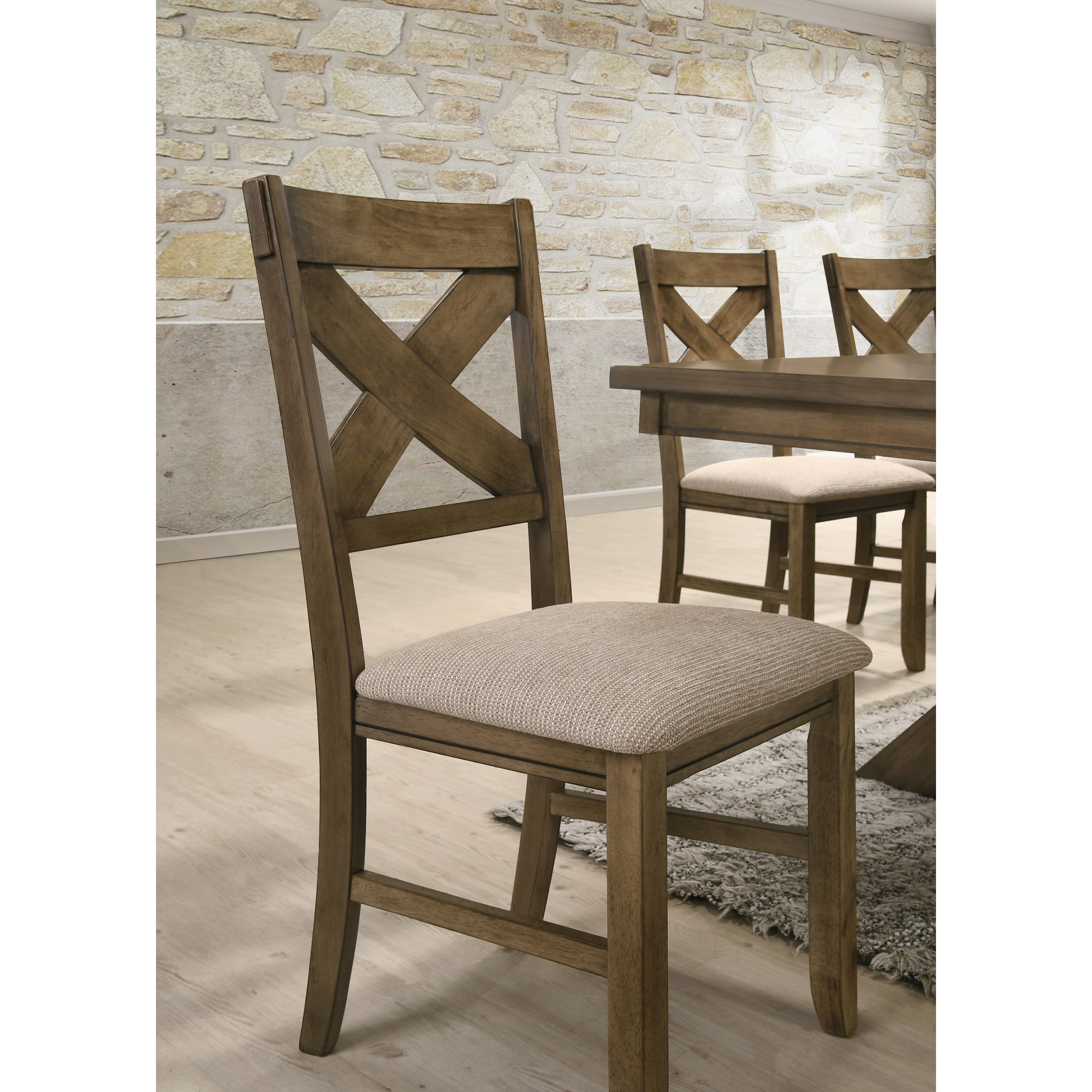 shop raven wood dining set butterfly leaf table six chairs on rh overstock ca