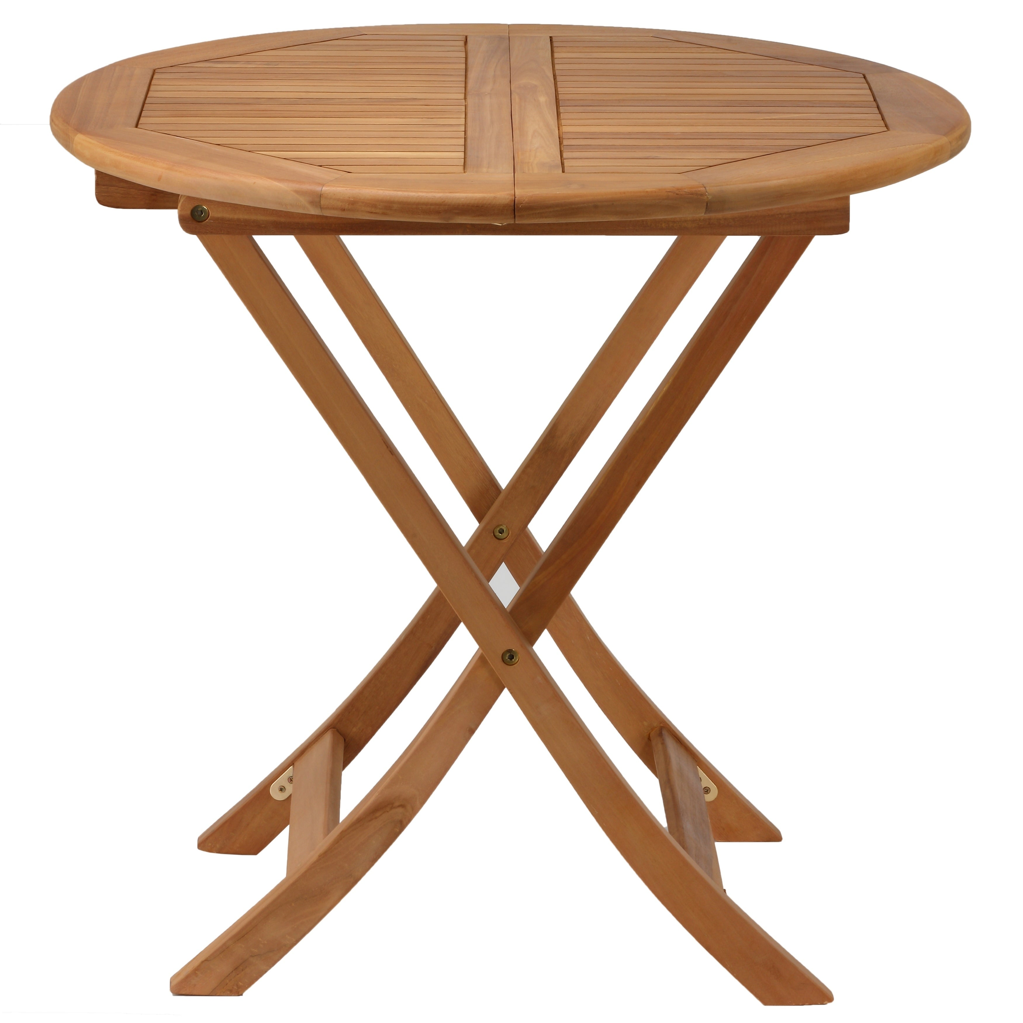 Bare Decor Darcy Outdoor Teak Folding Dining Table 31 Round 5 W X L 30 H