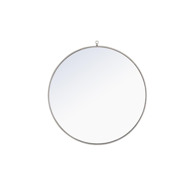 Shop Round 36 Inch Metal Frame Mirror With Decorative Hook