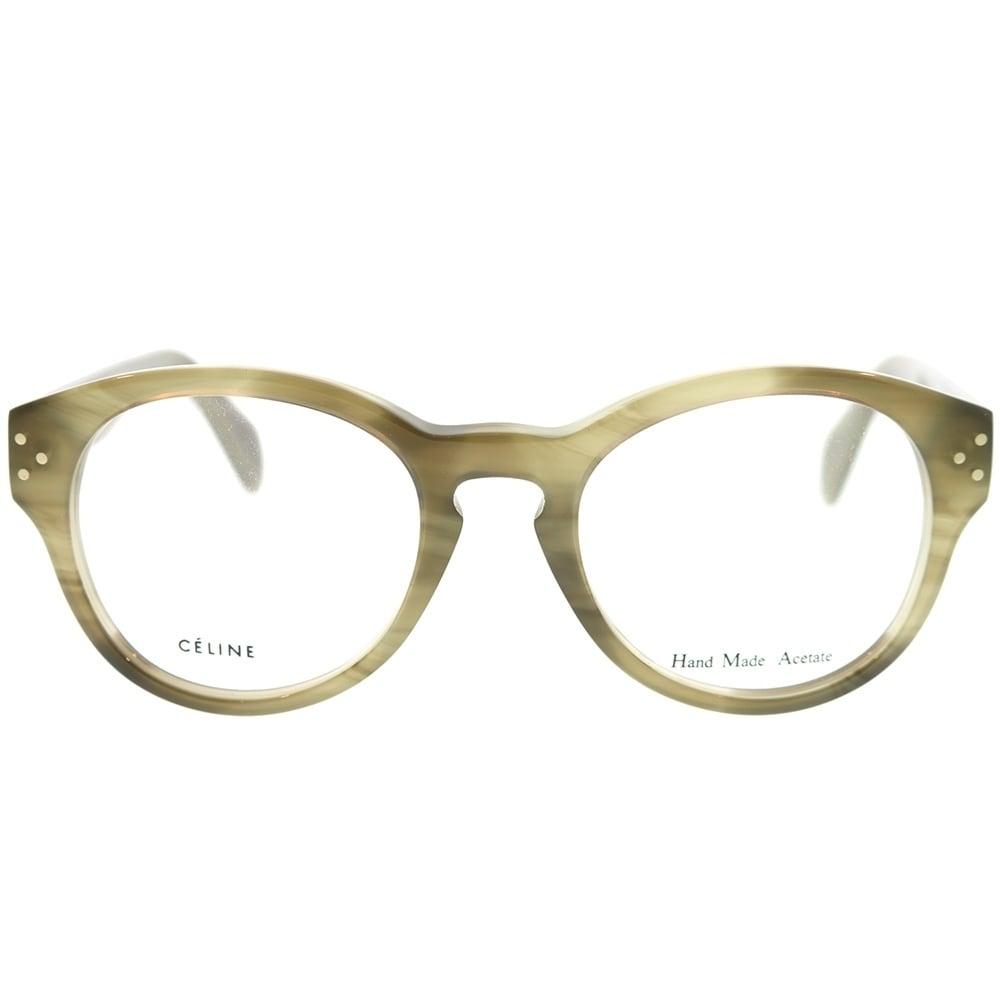 3c3a80d3c1f Shop Celine Round CL 41300 7JV Unisex Green Frame Eyeglasses - Free  Shipping Today - Overstock - 22734028