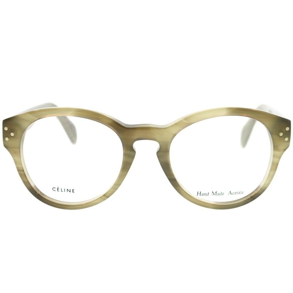 745fa181336 Shop Celine Round CL 41300 7JV Unisex Green Frame Eyeglasses - Free  Shipping Today - Overstock - 22734028