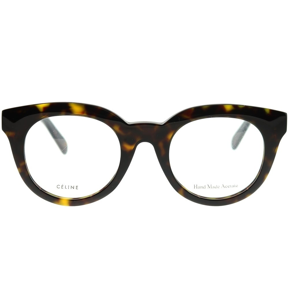 ddb5dcc92f6 Shop Celine Square CL 41363 Clara 086 Unisex Dark Havana Frame Eyeglasses -  Free Shipping Today - Overstock - 22734059