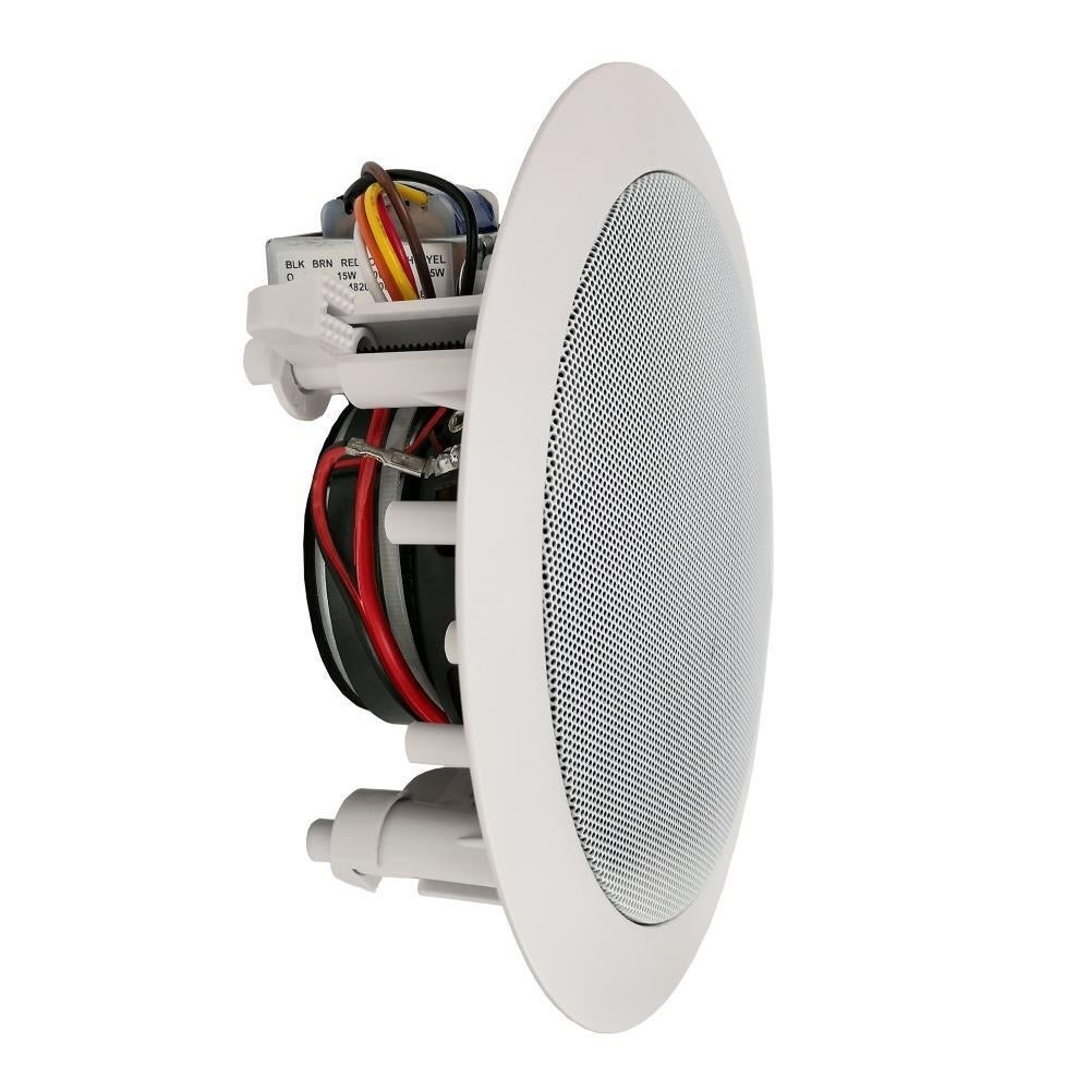 Pyle PDIC53T 300W 5 25 Inch In-Wall In-Ceiling 70V Low-Profile Speakers  with 70 Volt Transformer