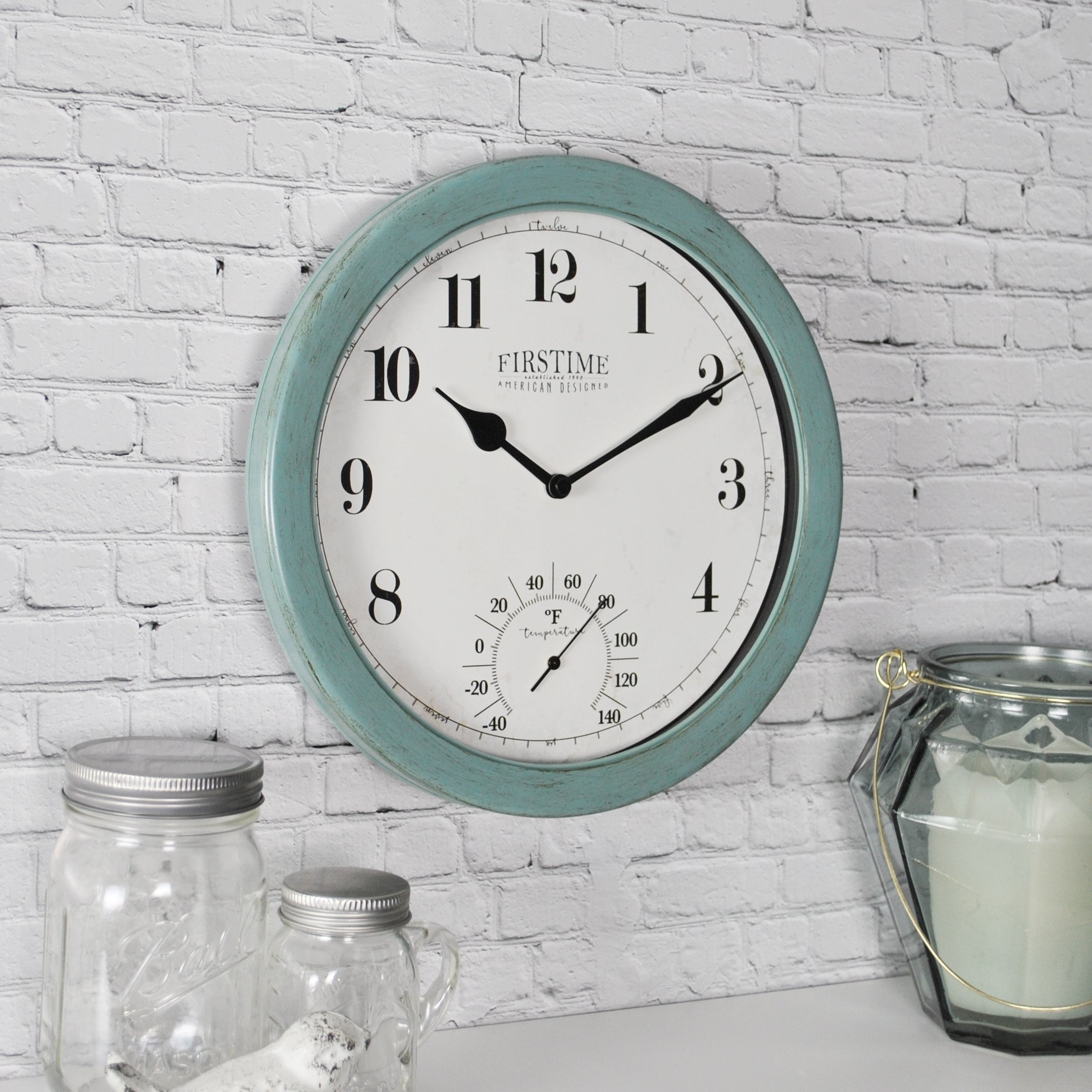 Shop FirsTime U0026 Co® Chatham Outdoor Wall Clock   Free Shipping On Orders  Over $45   Overstock   22735837