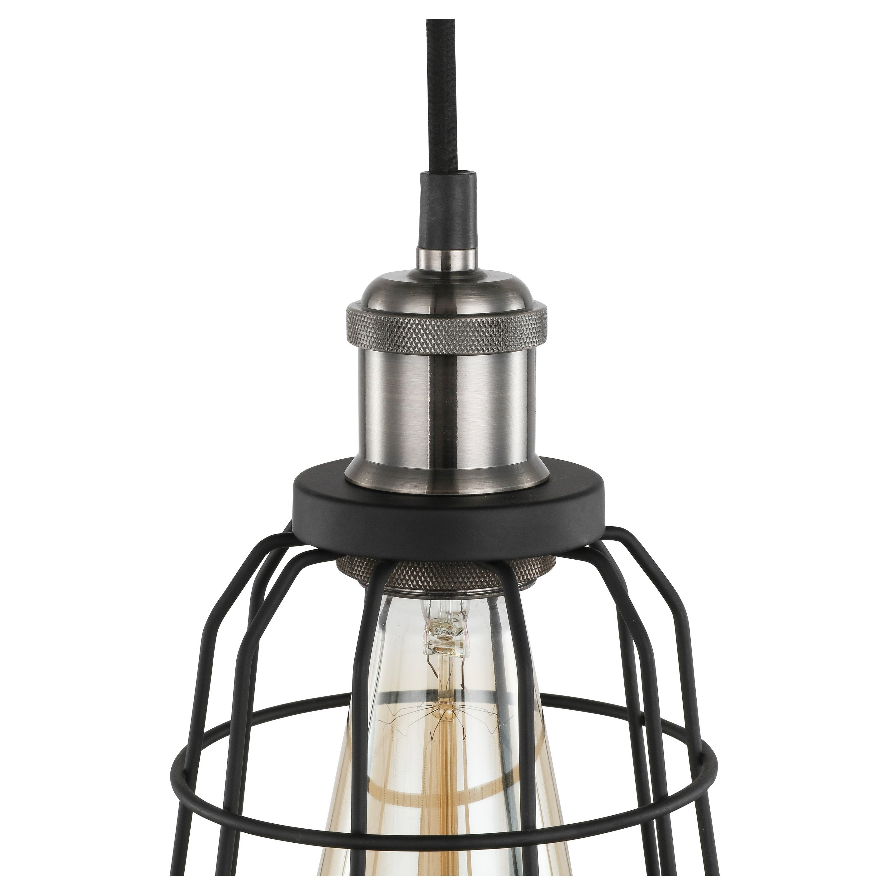 Shop Woodbridge Lighting Fulton Black Wire Cage Mini Pendant with ...