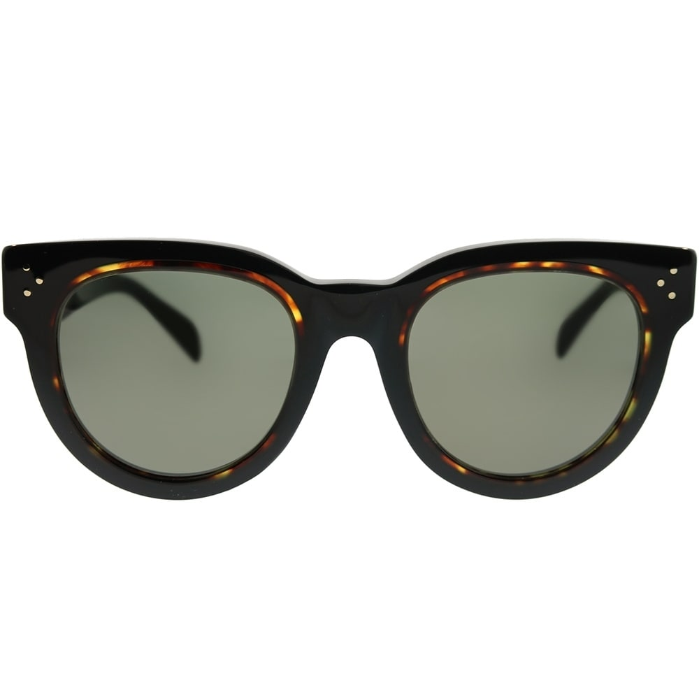 26f4074f0e Shop Celine Round CL 41413 F Laura Asian Fit T7D 70 Women Black Havana Frame  Brown Lens Sunglasses - Free Shipping Today - Overstock - 22745885