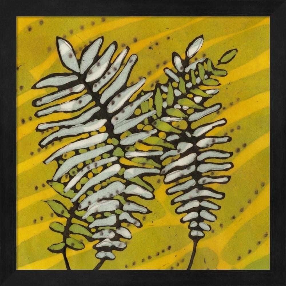 Shop Andrea Davis \'Gold Batik Botanical II\' Framed Art - Free ...