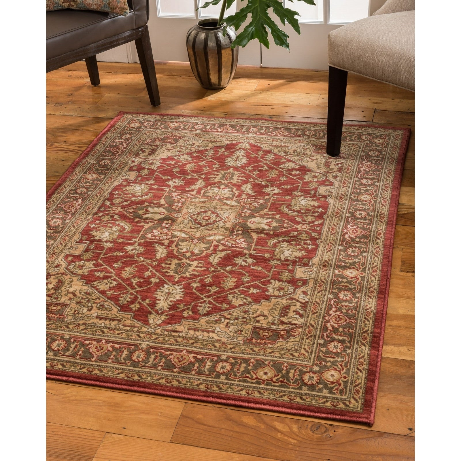 Shop natural area rugs vintage oriental chiara polypropylene rectangle rug 6x9 multi 6 x 9 free shipping today overstock com 22747861