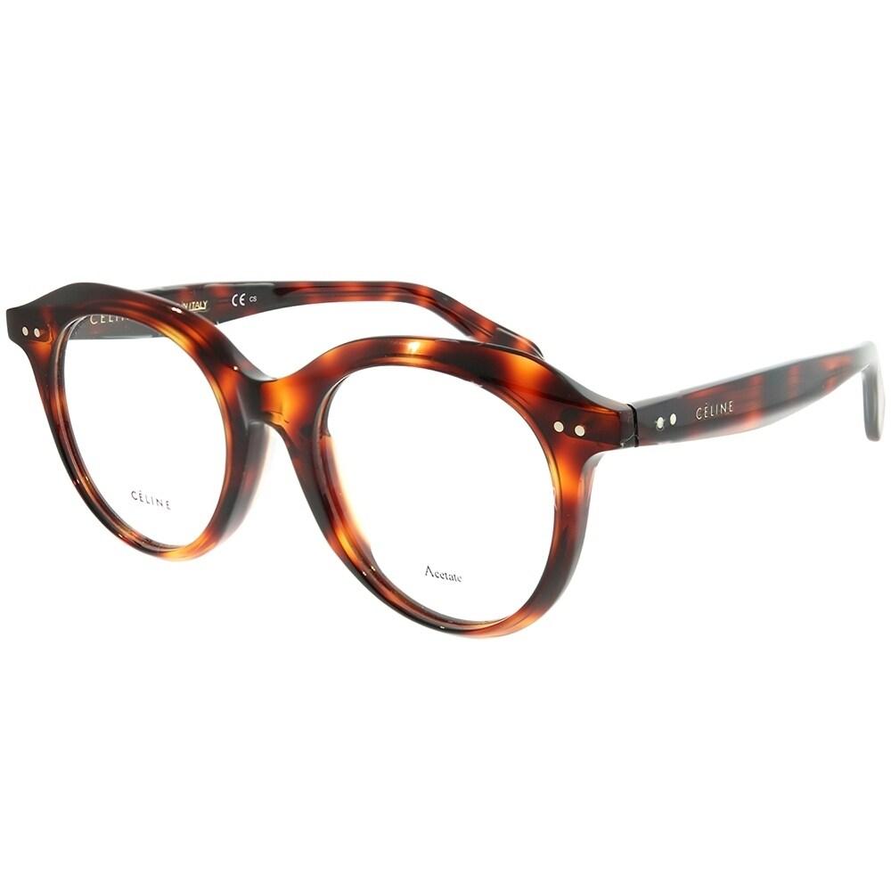 050a58949c1 Shop Celine Round CL 41461 F Asian Fit 086 Women Dark Havana Frame  Eyeglasses - On Sale - Ships To Canada - Overstock - 22796806