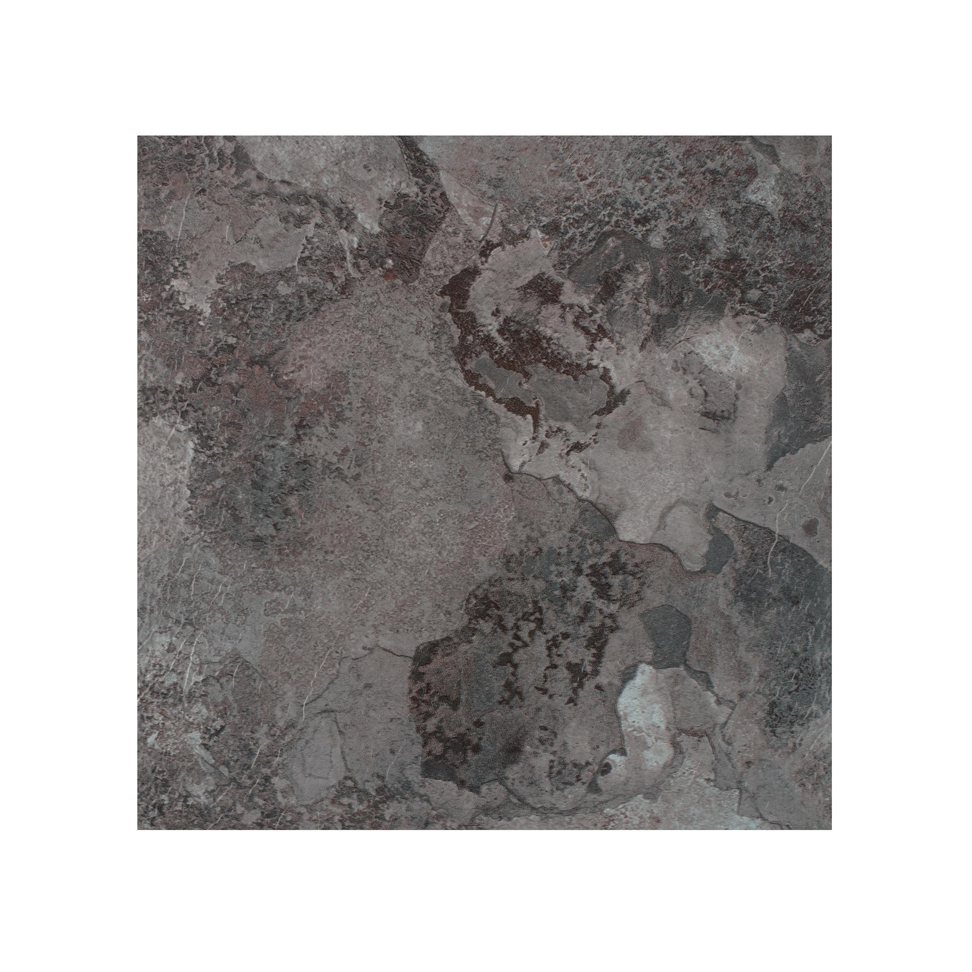 Shop Portfolio 12x12 20mm Self Adhesive Vinyl Floor Tile Midnight