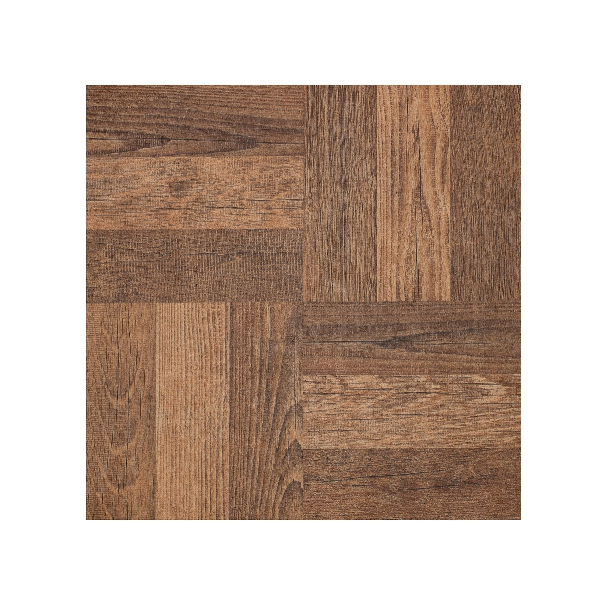 Shop Portfolio 12x12 20mm Self Adhesive Vinyl Floor Tile Walnut