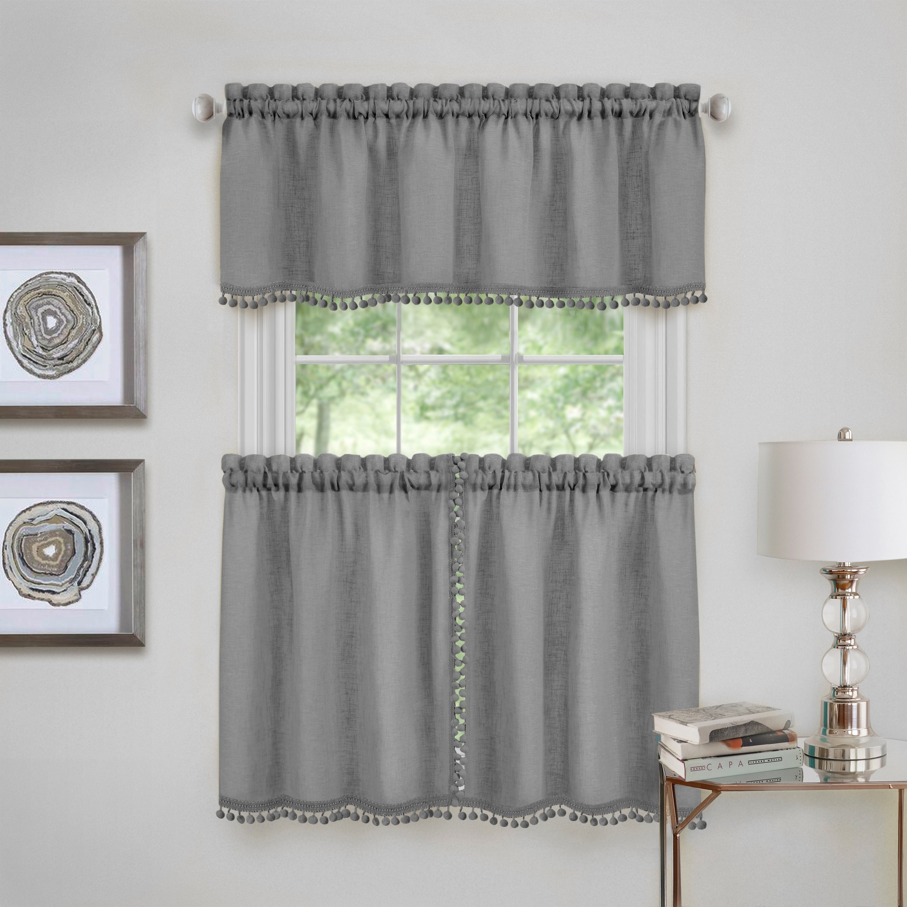 Curtain Tier Pair And Valance Set