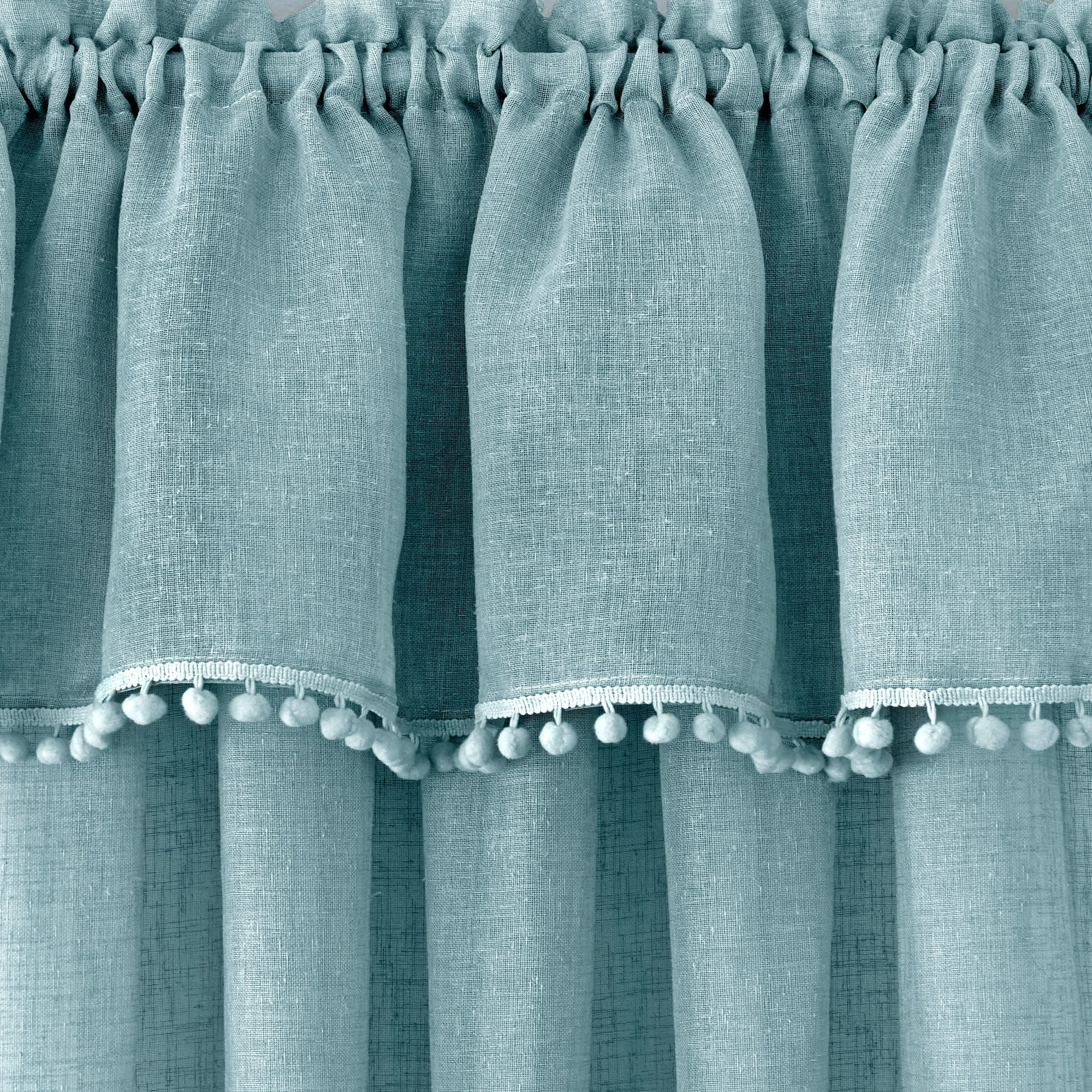 Shop Wallace Window Kitchen Curtain Tier Pair and Valance Set - Free ...