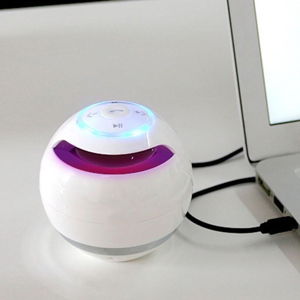 Round Shape Bluetooth Speaker Portable Music Player FM Transmitter