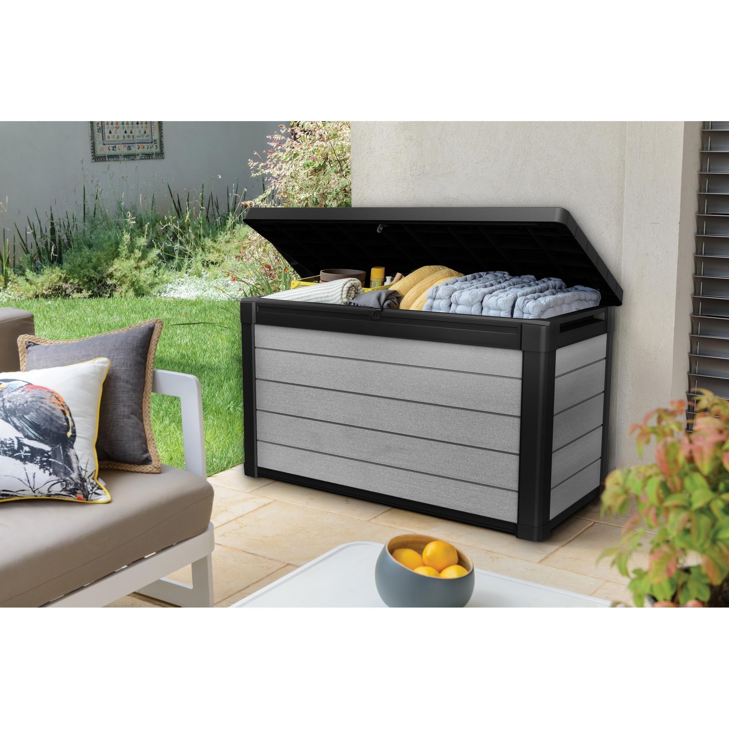 Keter Denali Duotech 100 Gallon Plastic Resin Deck Box Free Shipping Today 22814508