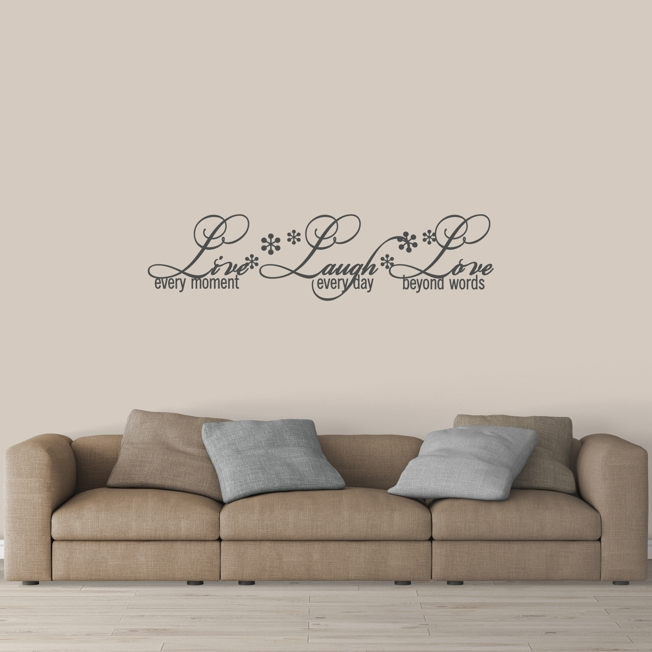 Shop Live Laugh Love Wall Decal Medium On Sale Free Shipping