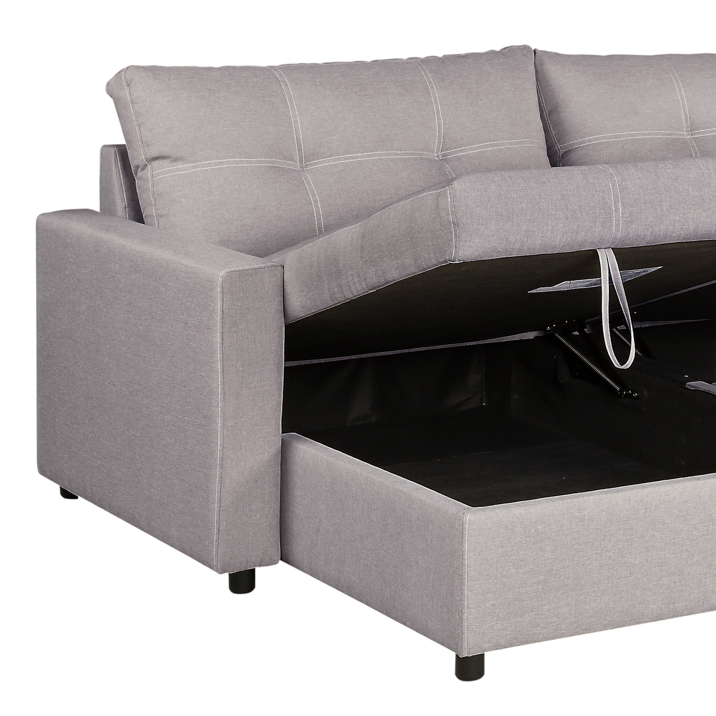 Shop Robin Polyester Sofa Chaise With 2 Storage Compartments On
