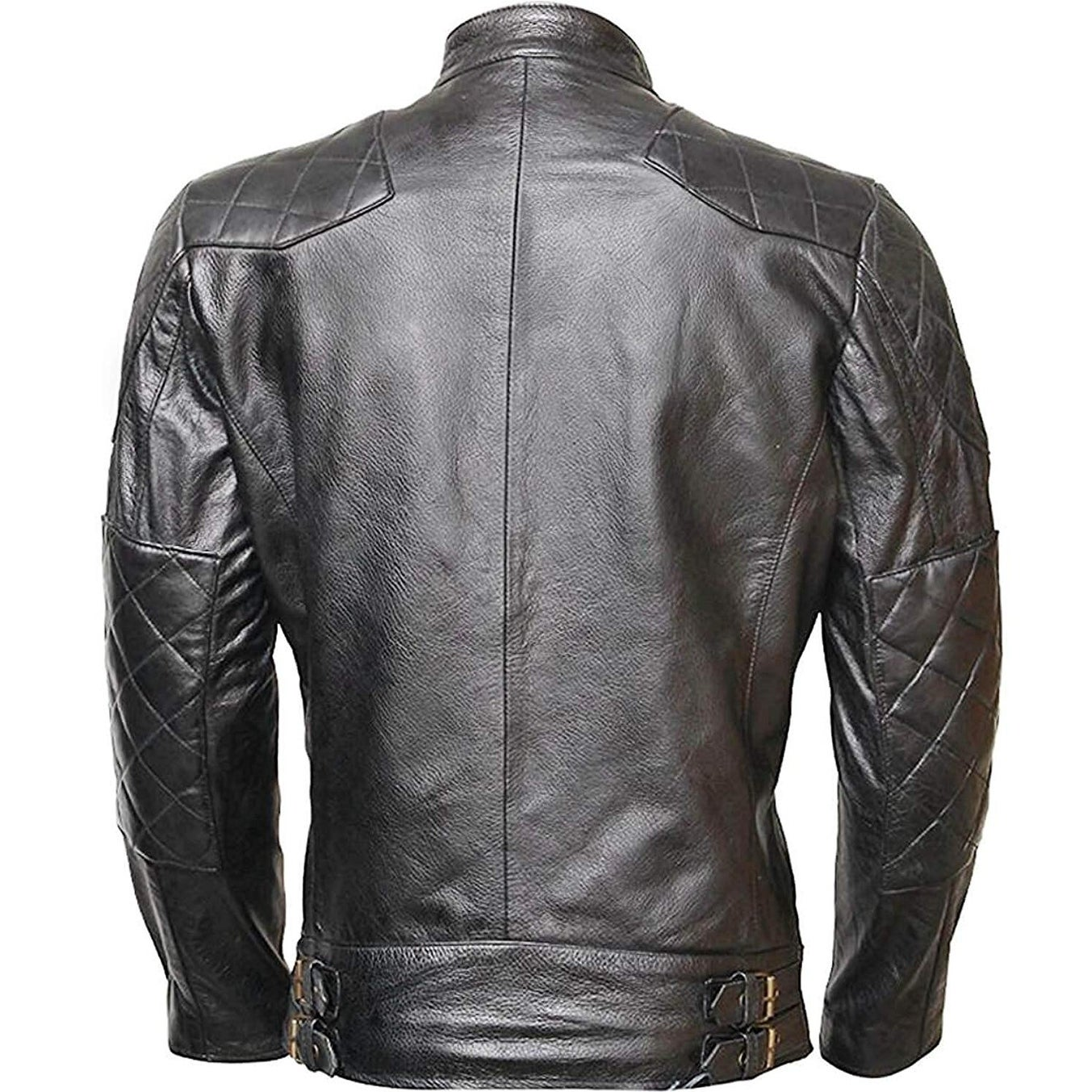 acb49bbc0 Shop WONDERPIEL Men s Genuine Lambskin Leather Biker Jacket Inspired ...