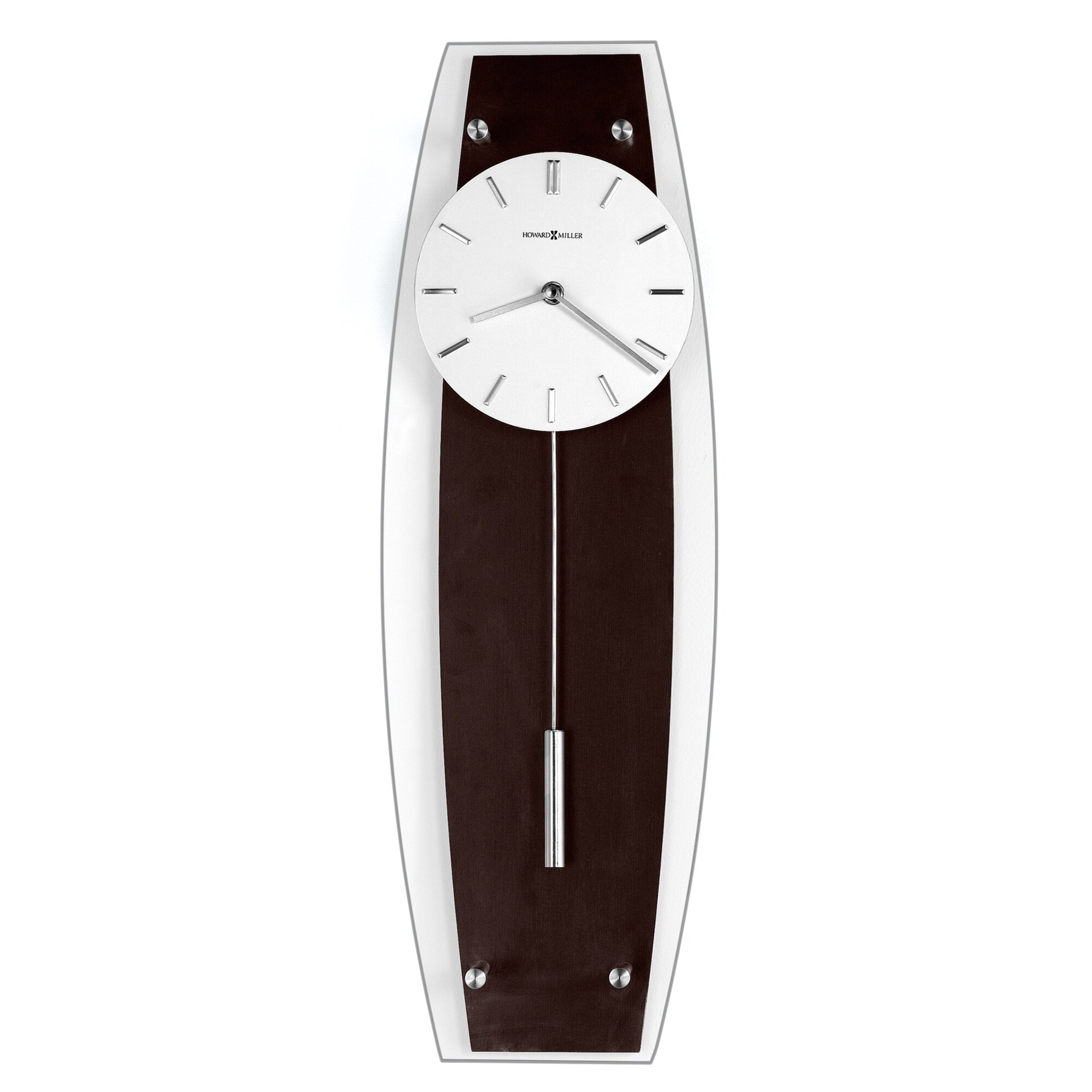 Howard Miller Cyrus Chic, Sleek, Contemporary Modern, Transitional Style  Wall Clock with Pendulum, Reloj De Pared