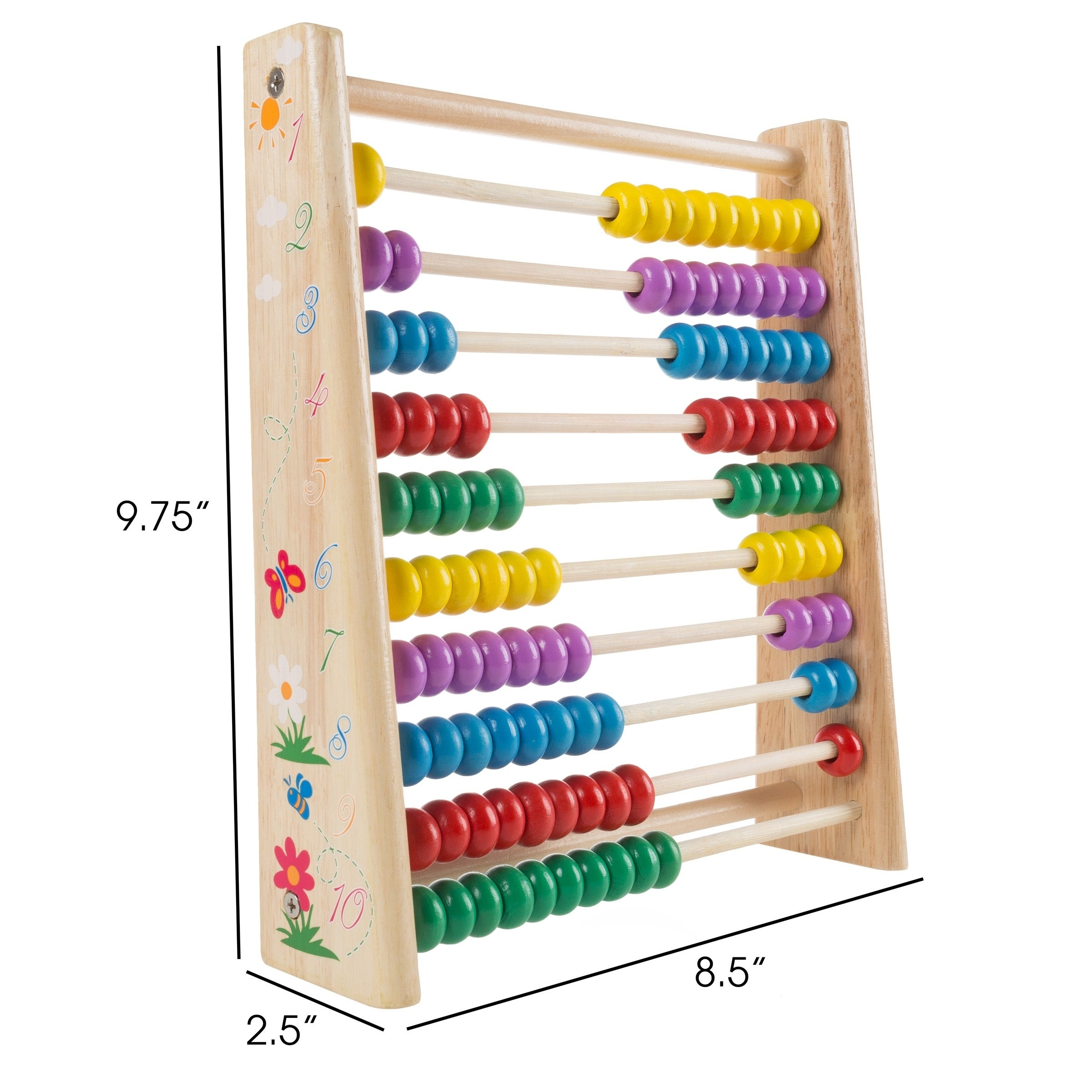 Kids Wooden Counting Bead Abacus Educational Frame Maths Toy Gift FM