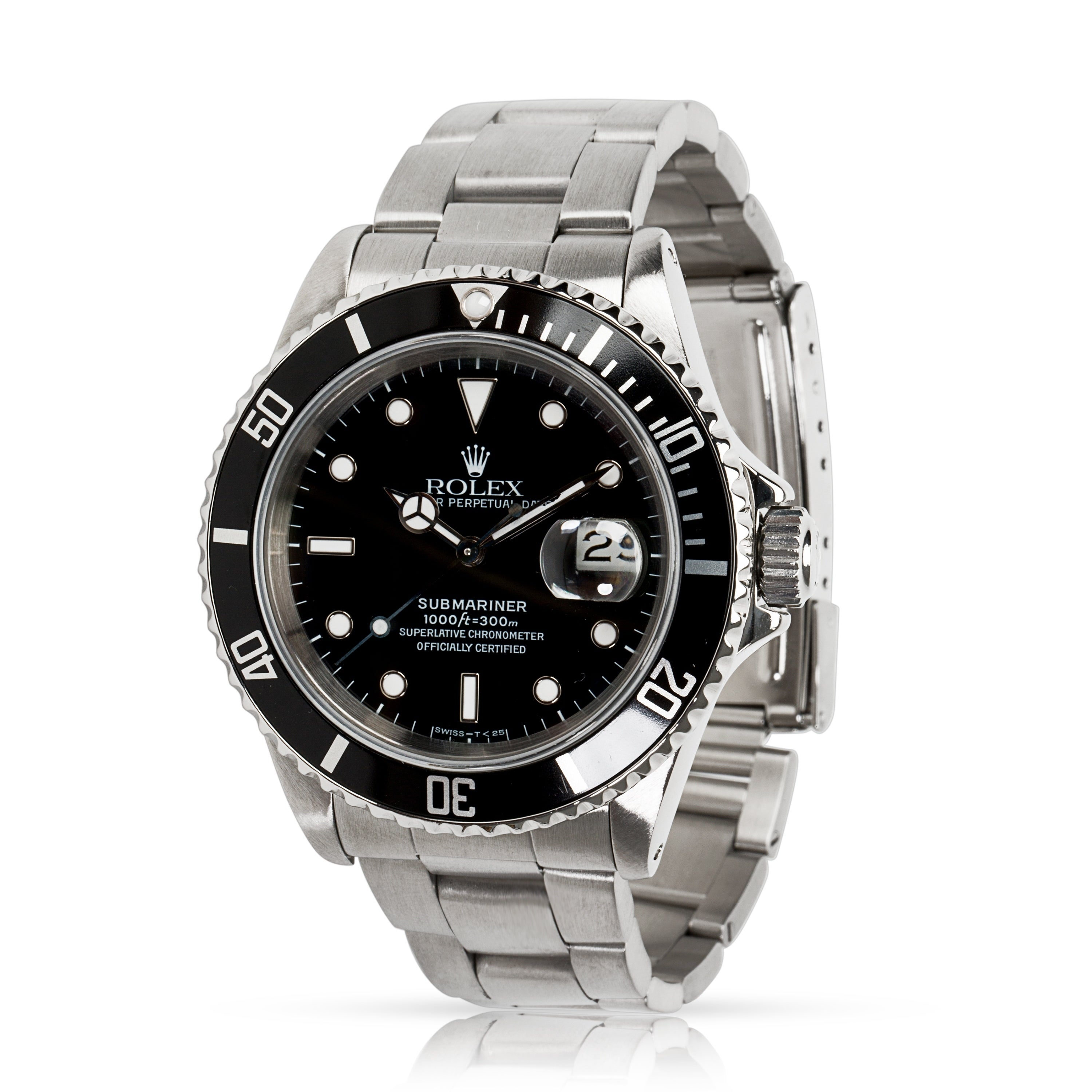 e9b08ff0f56 Shop Pre-Owned Rolex Submariner 16610 Men s Watch in Stainless Steel ...