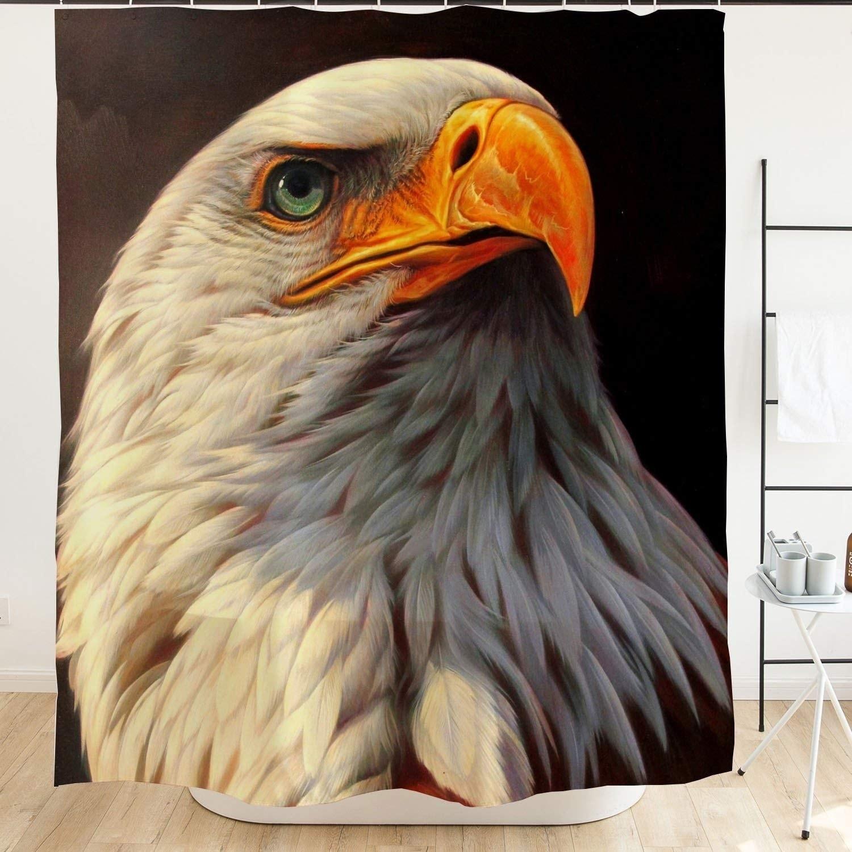 Shop Bald Eagle Shower Curtain For Bathroom 71x71 National Bird